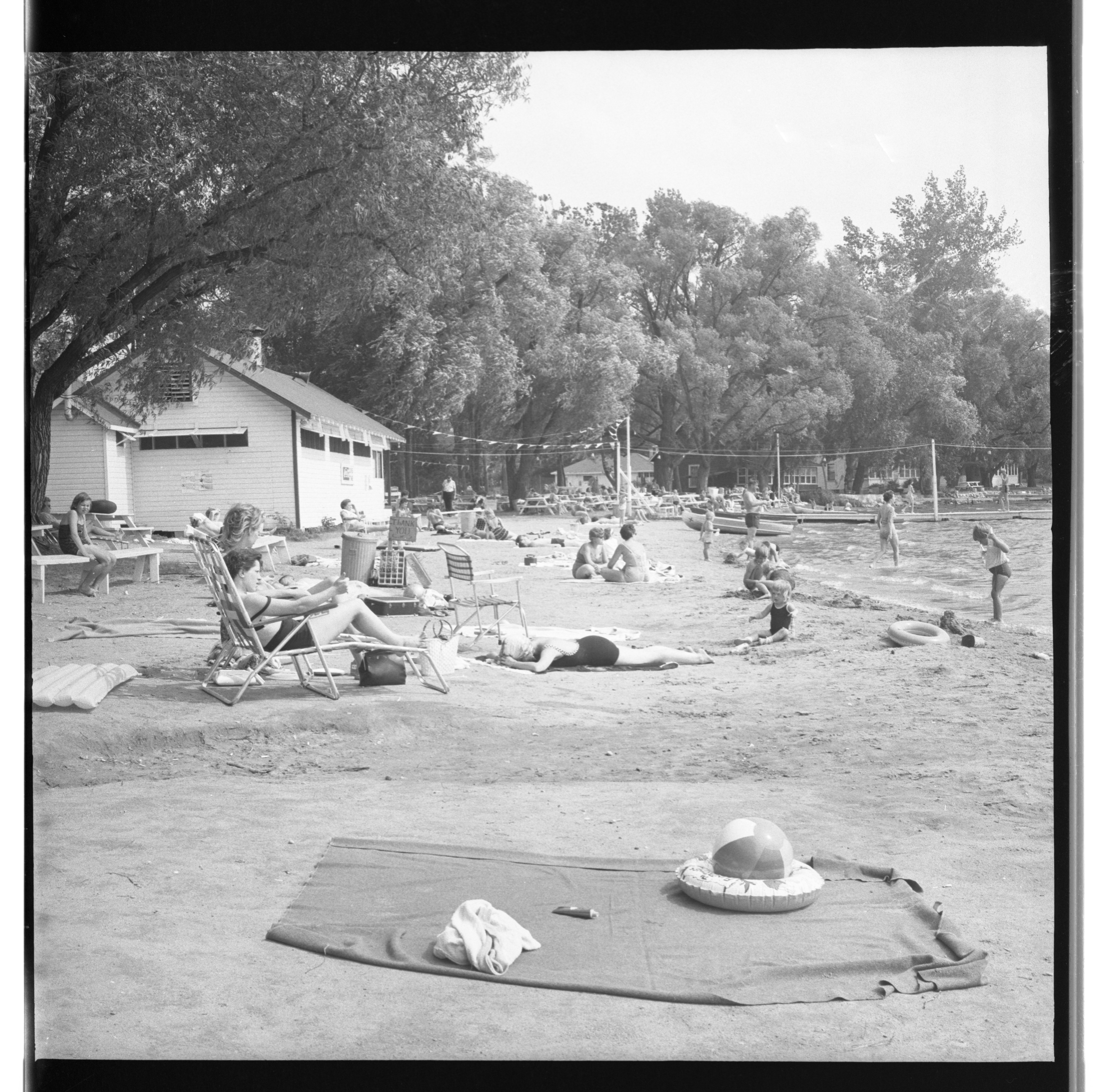 Groome's Beach Picnic Area - Whitmore Lake, July 1963 image