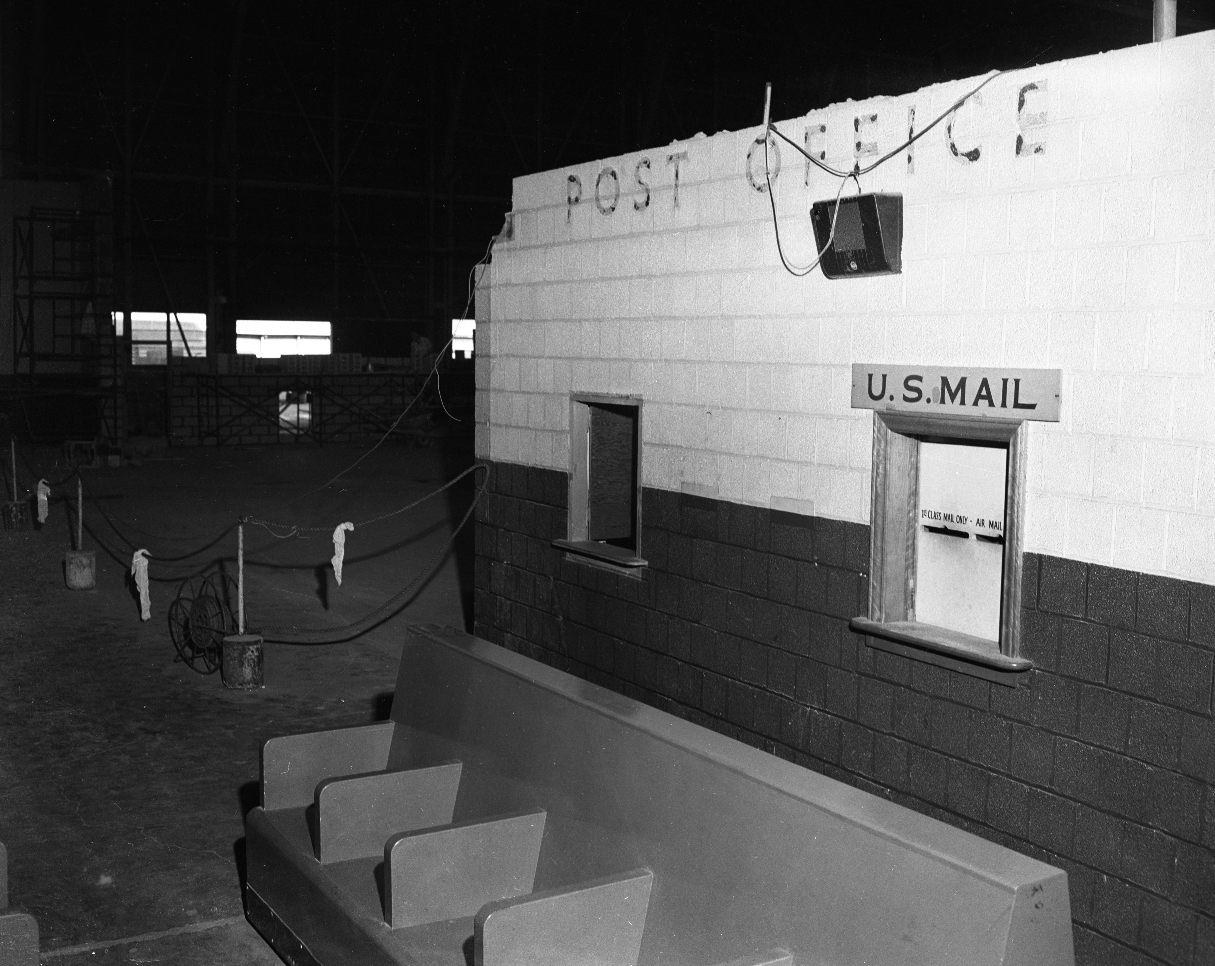 Old Post Office in Willow Run Airport, September 1954 image