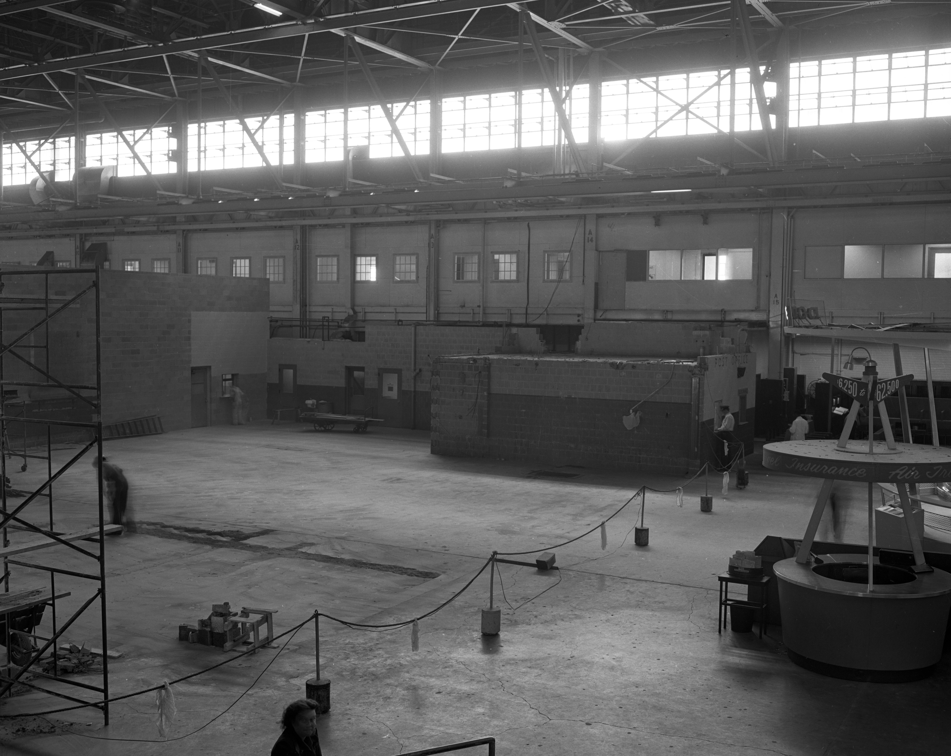 Theater in Willow Run Airport removed to make lobby space, September 1954 image