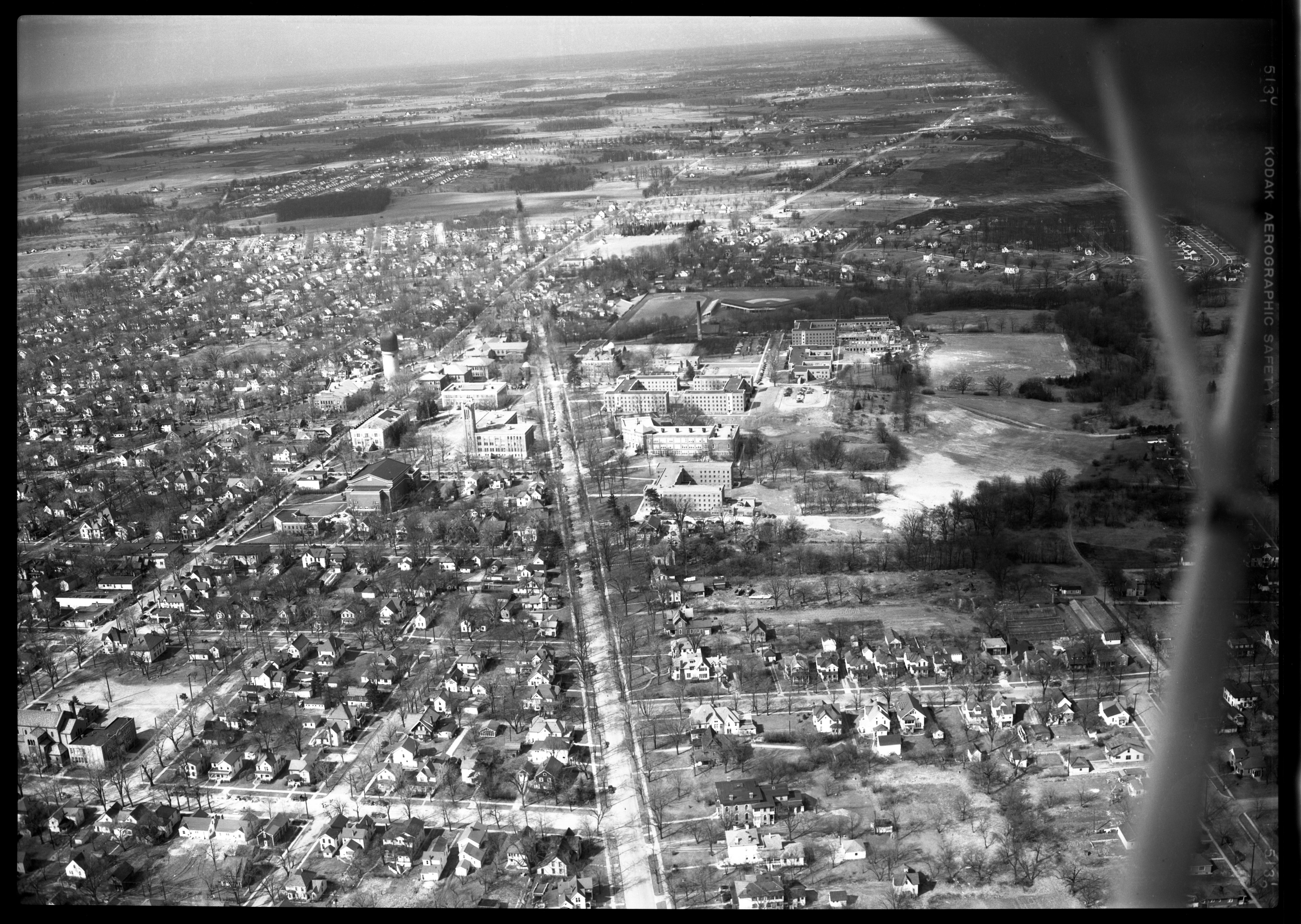 Ypsilanti State Normal School From Air, circa 1947 image
