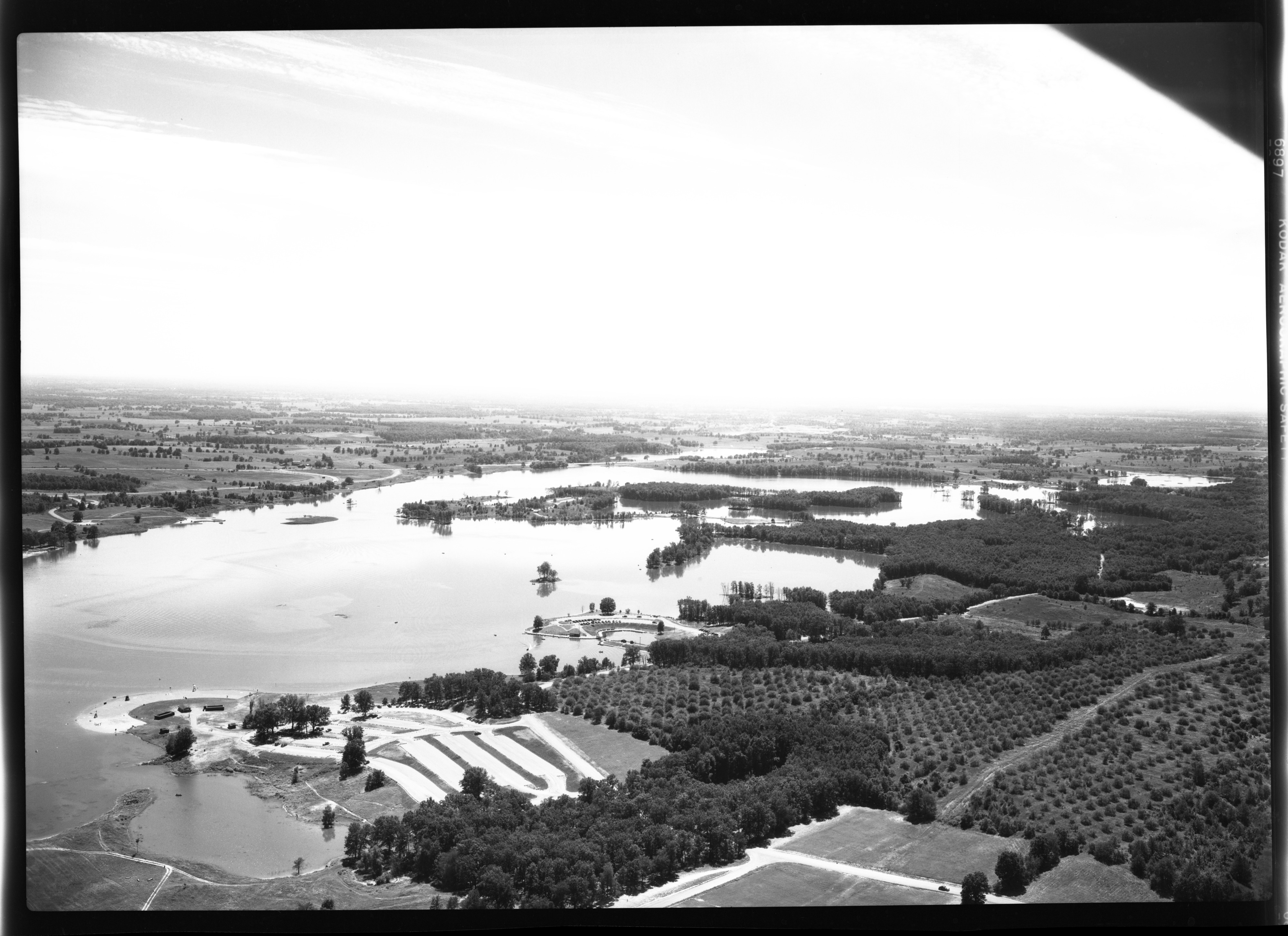 Kent Lake, from air, July 30, 1949 image