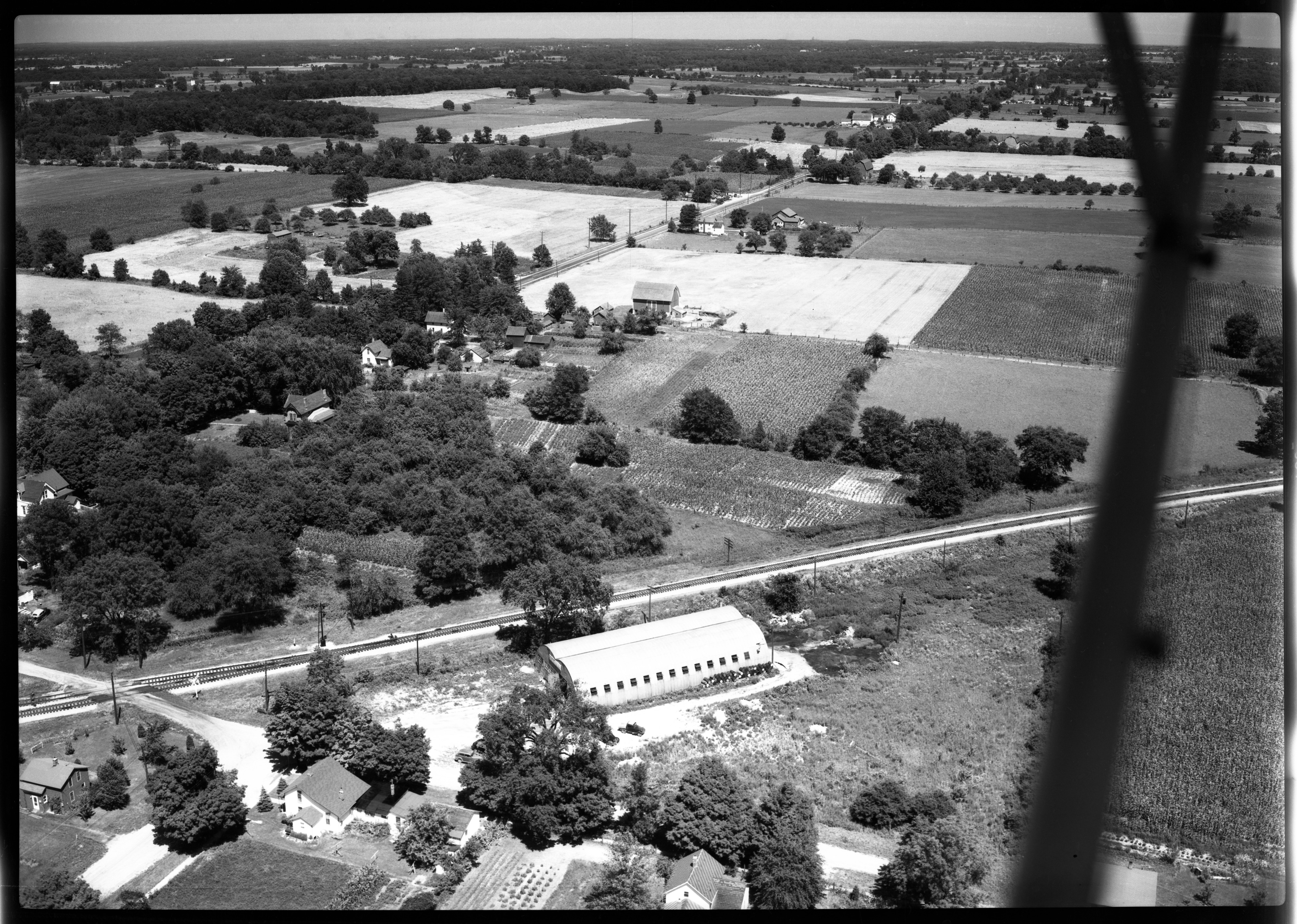 Aerial Photograph of Fullerton Manufacturing in South Lyon, July 1949 image