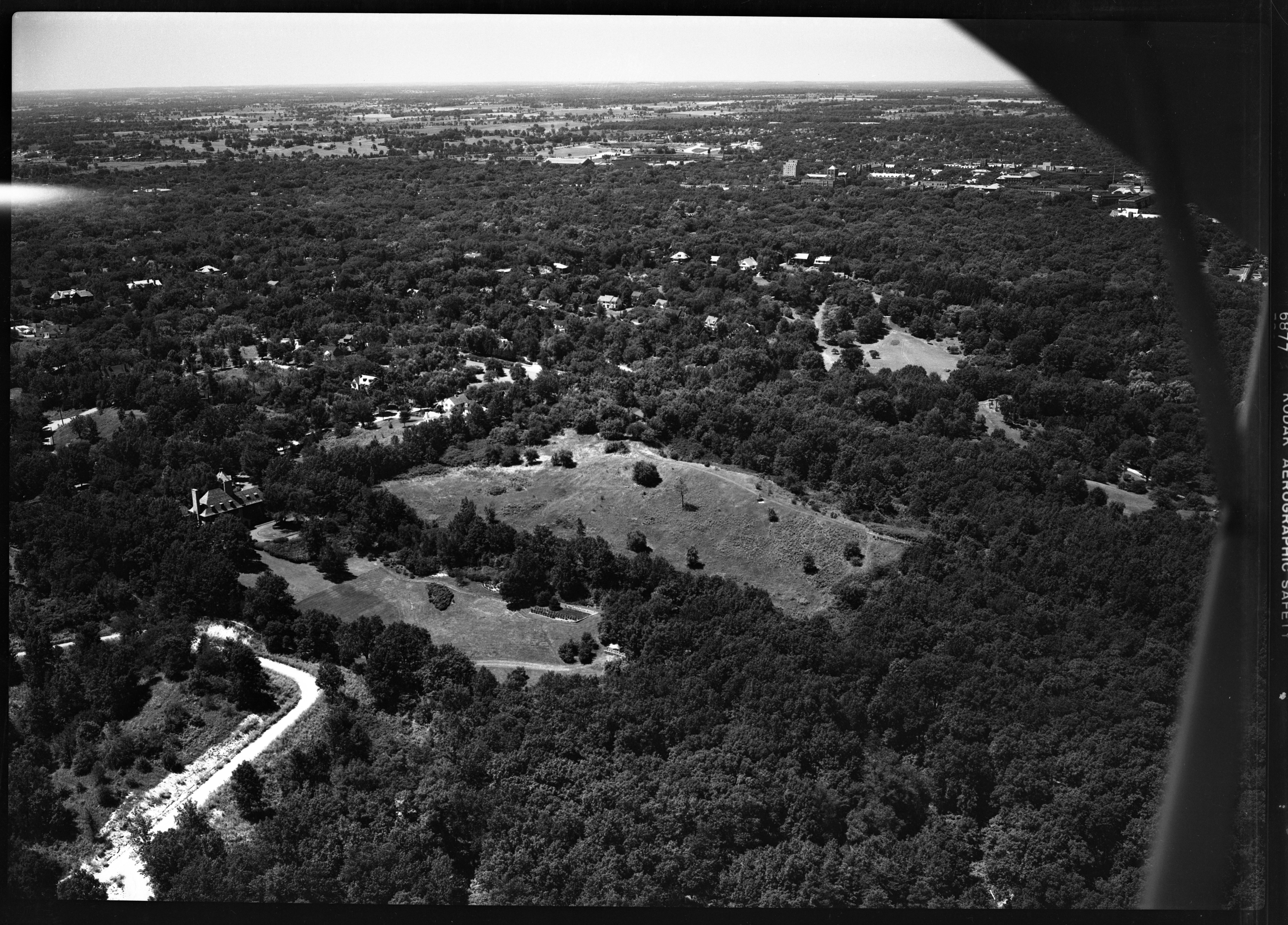 Aerial Photograph of Inglis House, Huddy Hill, July 1949 image