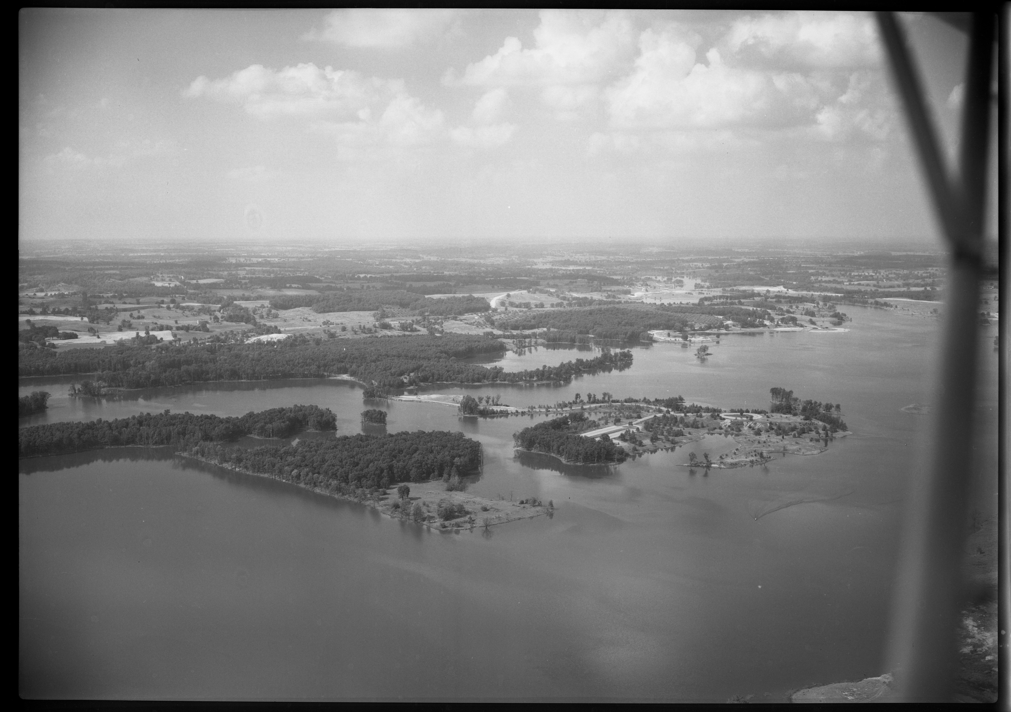 Aerial Photograph of Kent Lake, July 1949 image
