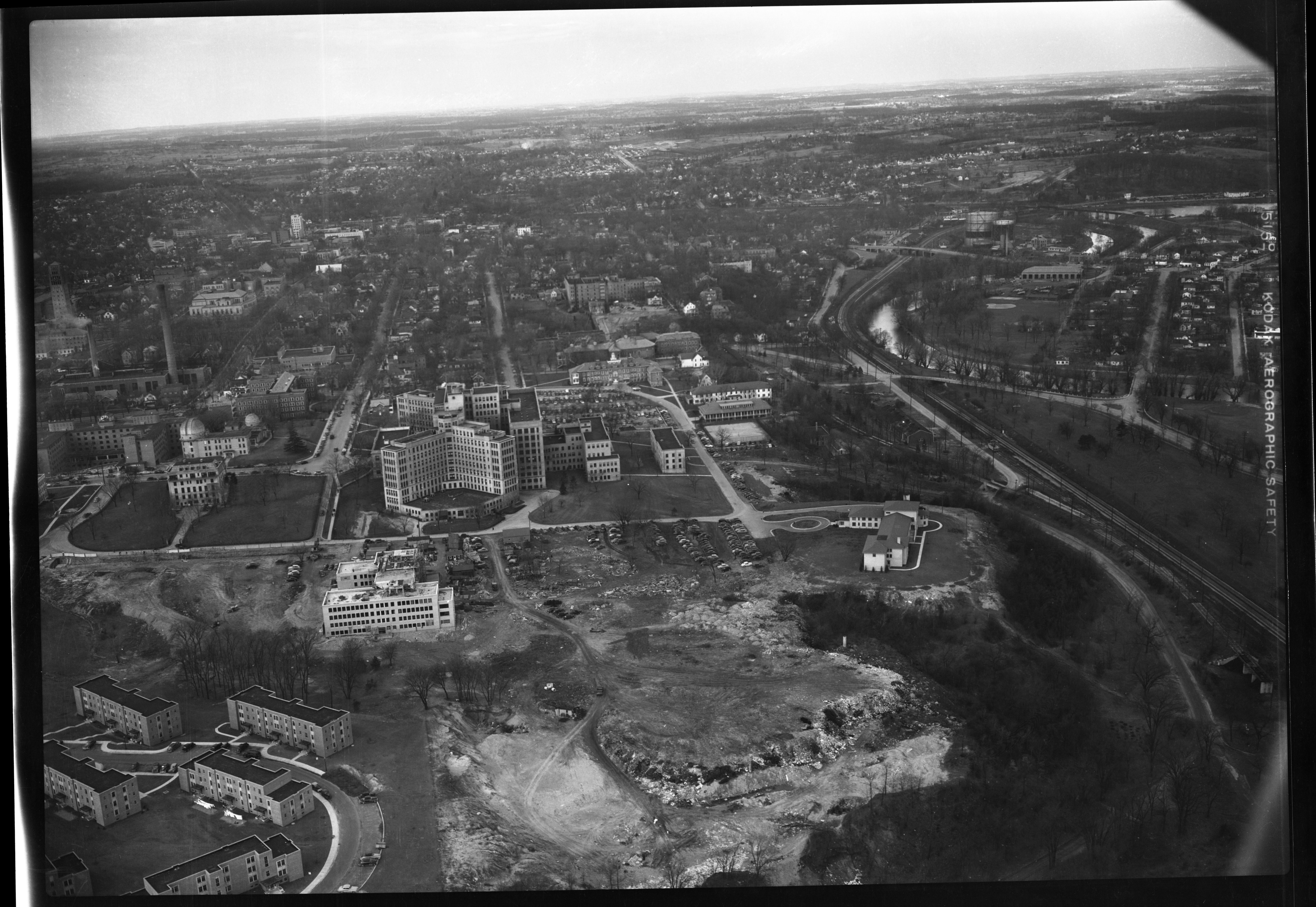 University of Michigan Medical Area and Terrace, September 1949 image