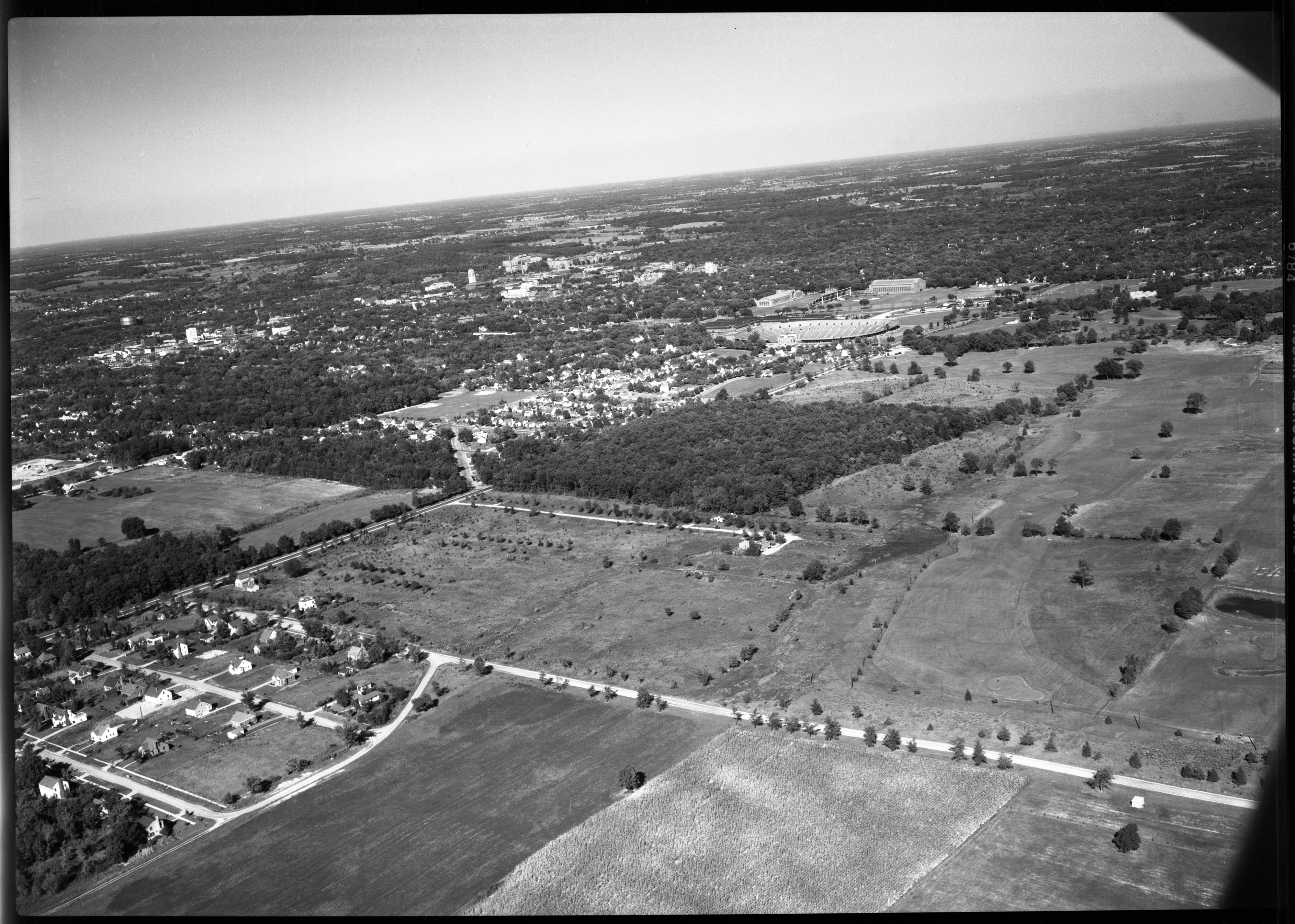 Aerial Photograph of Barnard Heights Area, September 1949 image