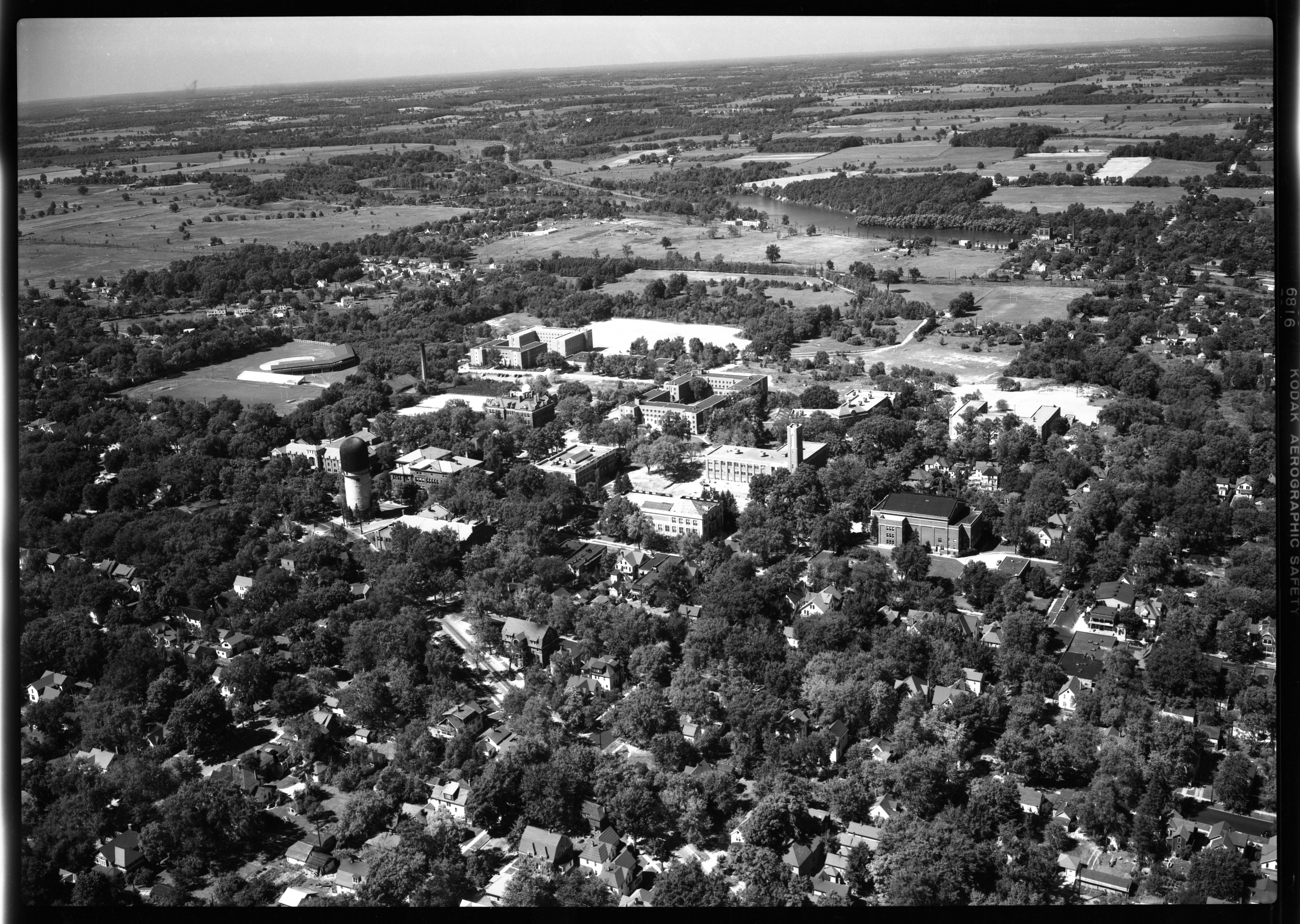 Aerial Photograph of State Normal College, Ypsilanti, September 1949 image