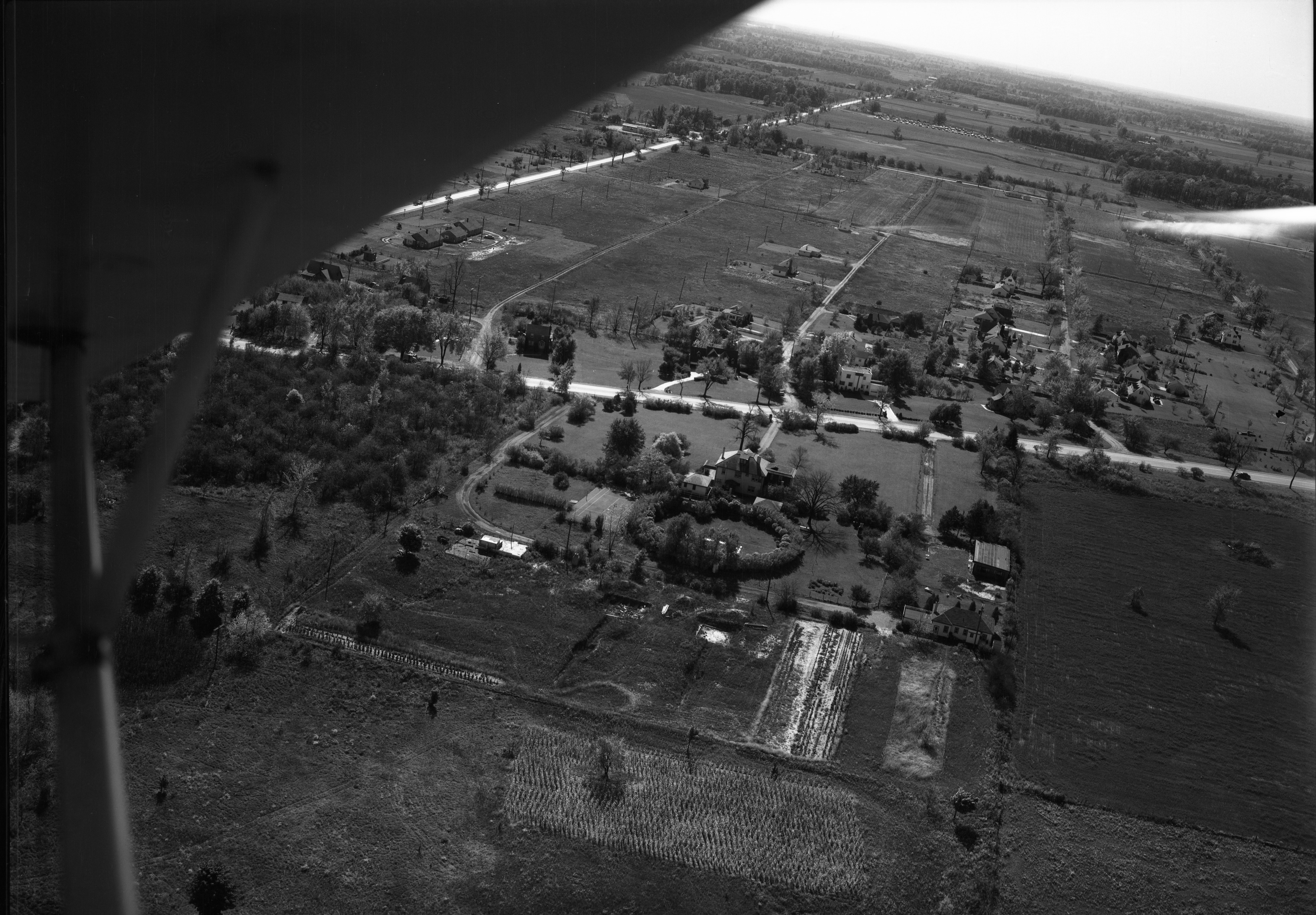Aerial Photo Of Francis J. LaPointe's Home, 4158 Washtenaw, October 1949 image