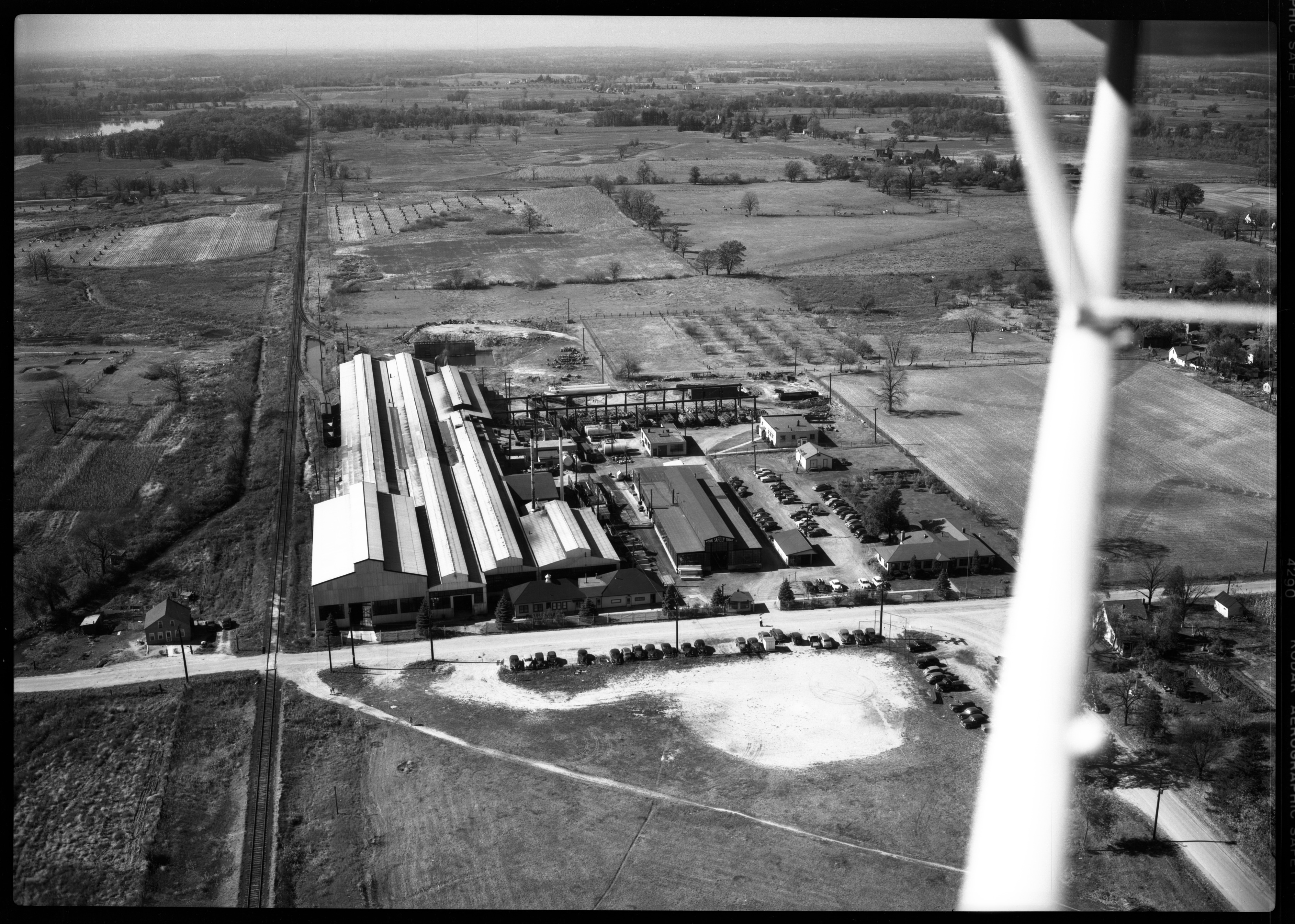 Aerial Photograph of Michigan Seamless Tube Co., South Lyon, September 1949 image