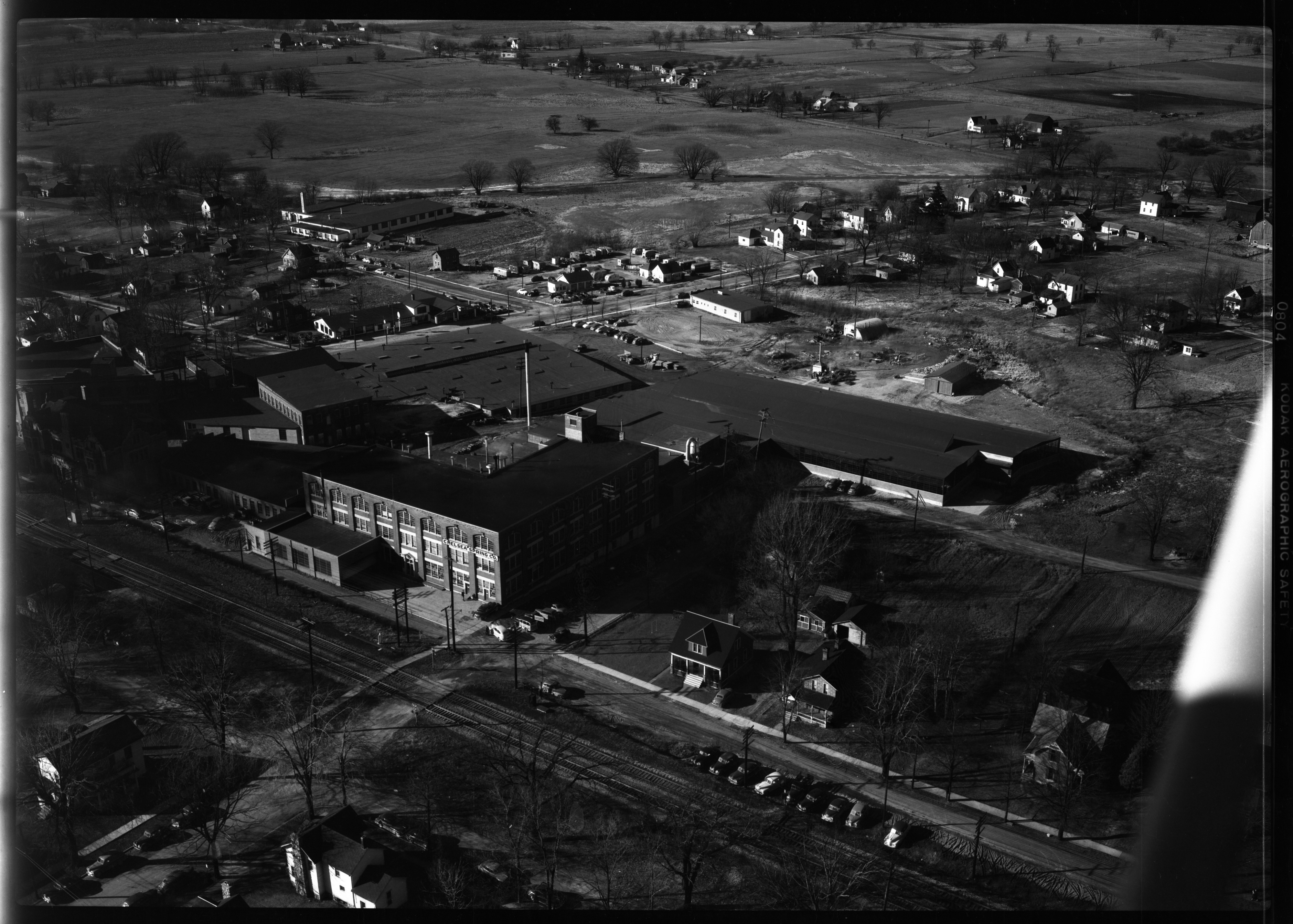 Aerial Photograph the Chelsea Spring Factory, January 1950 image
