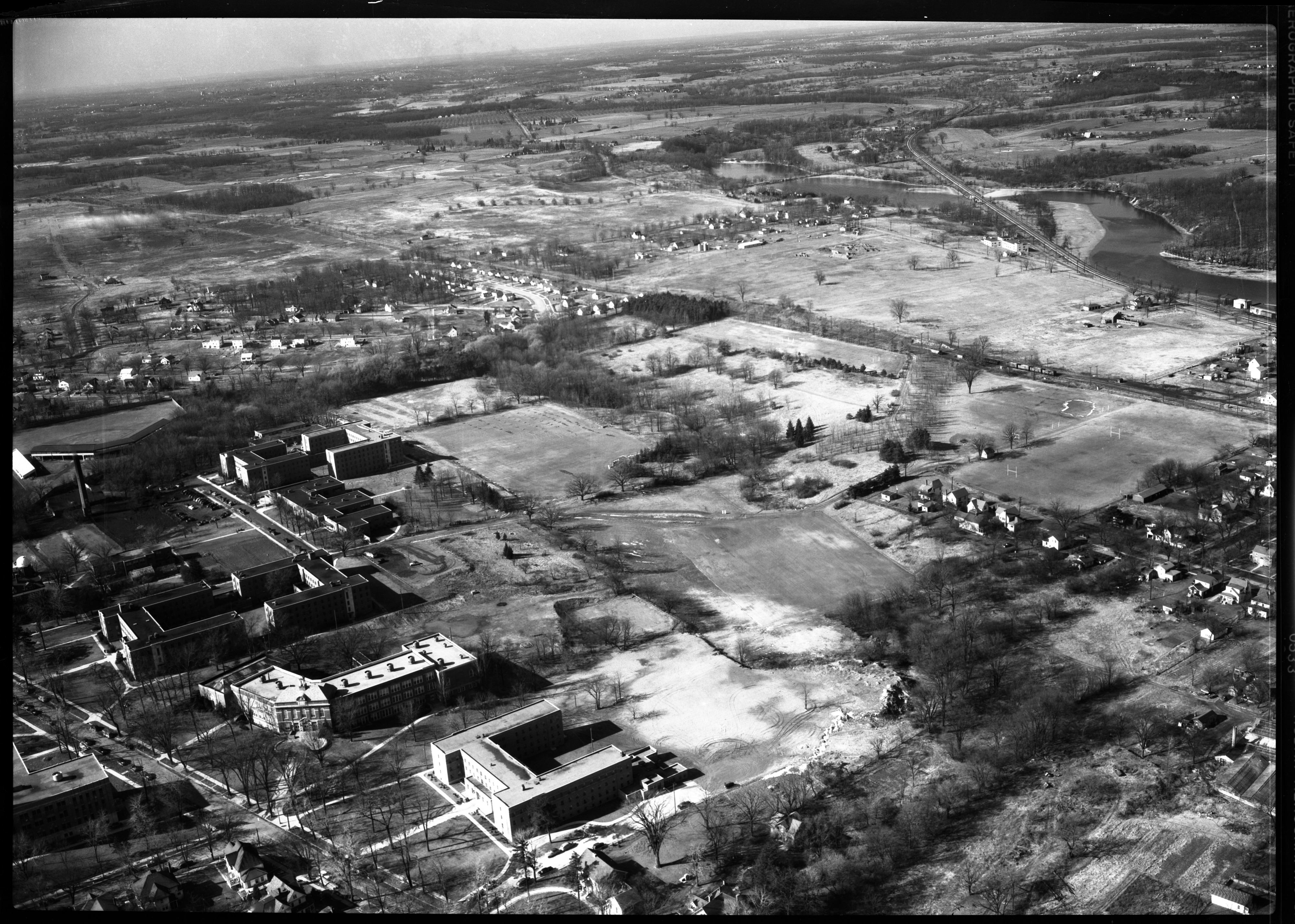 Aerial Photograph of Golf Course at State Normal College, Ypsilanti, February 1950 image