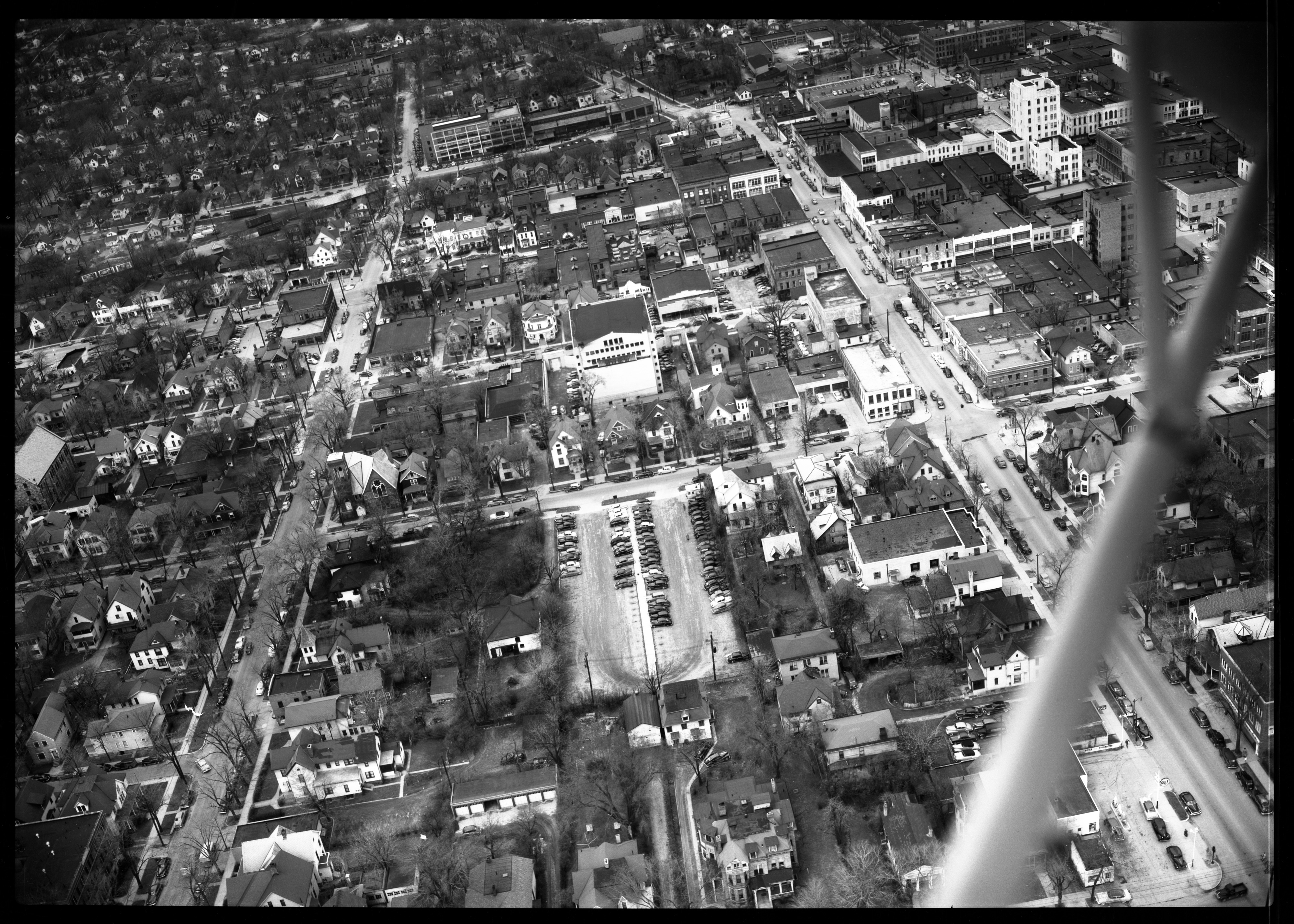 Aerial View of Downtown Ann Arbor, April 1950 image
