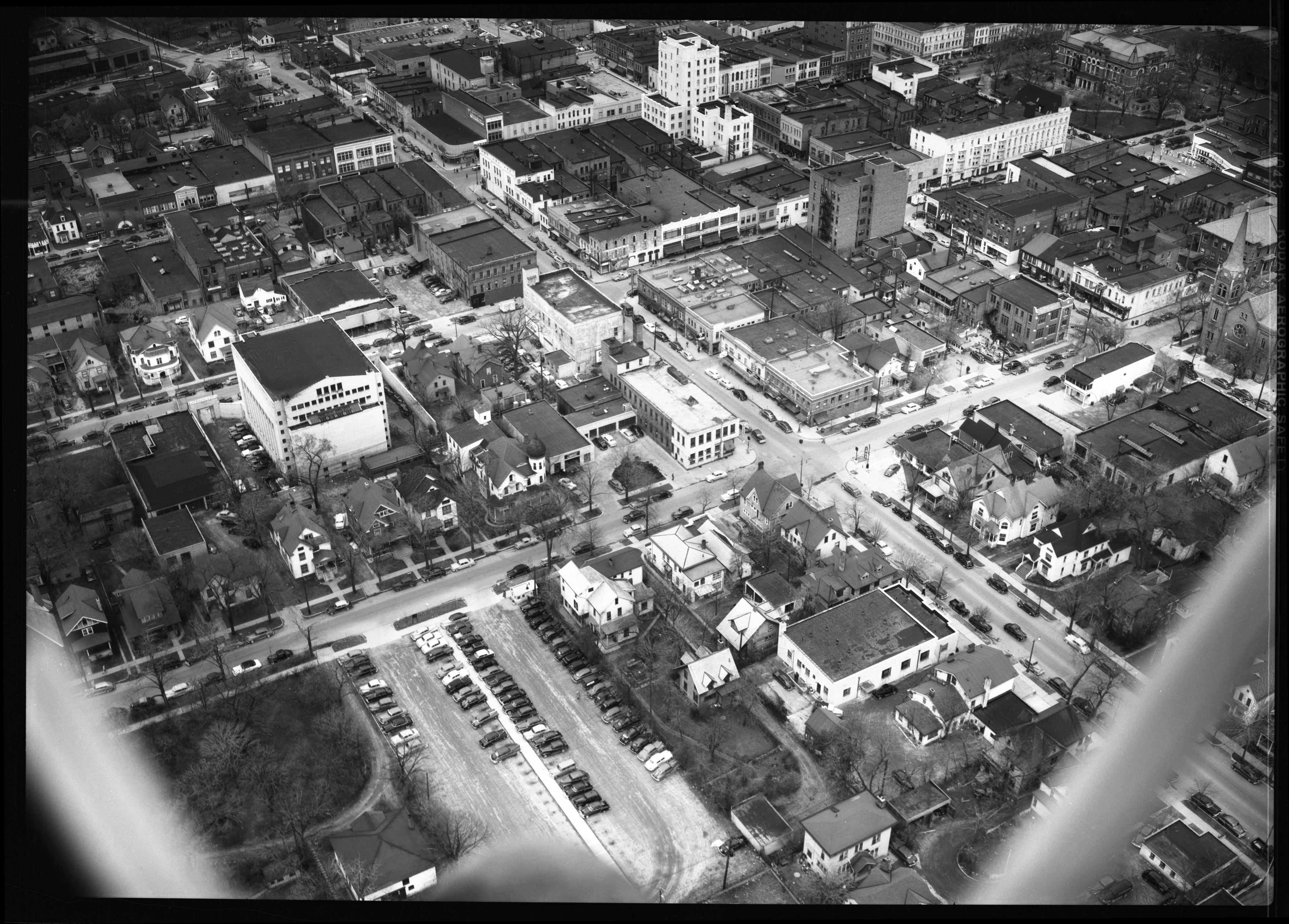 Aerial View of Ann Arbor Carport, April 1950 image