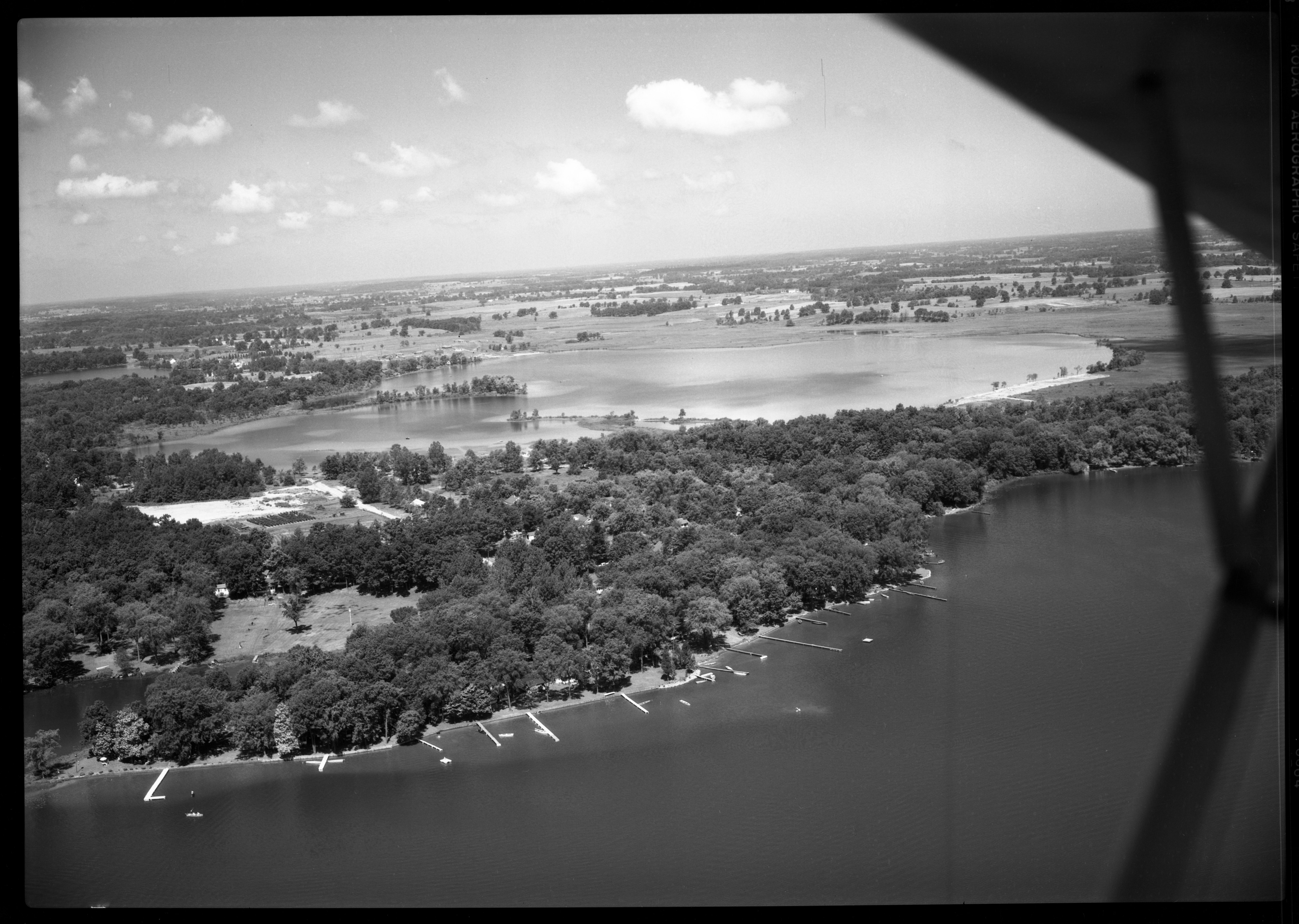 Aerial Photograph of Strawberry Lake's Northwest Shore, June 1950 image
