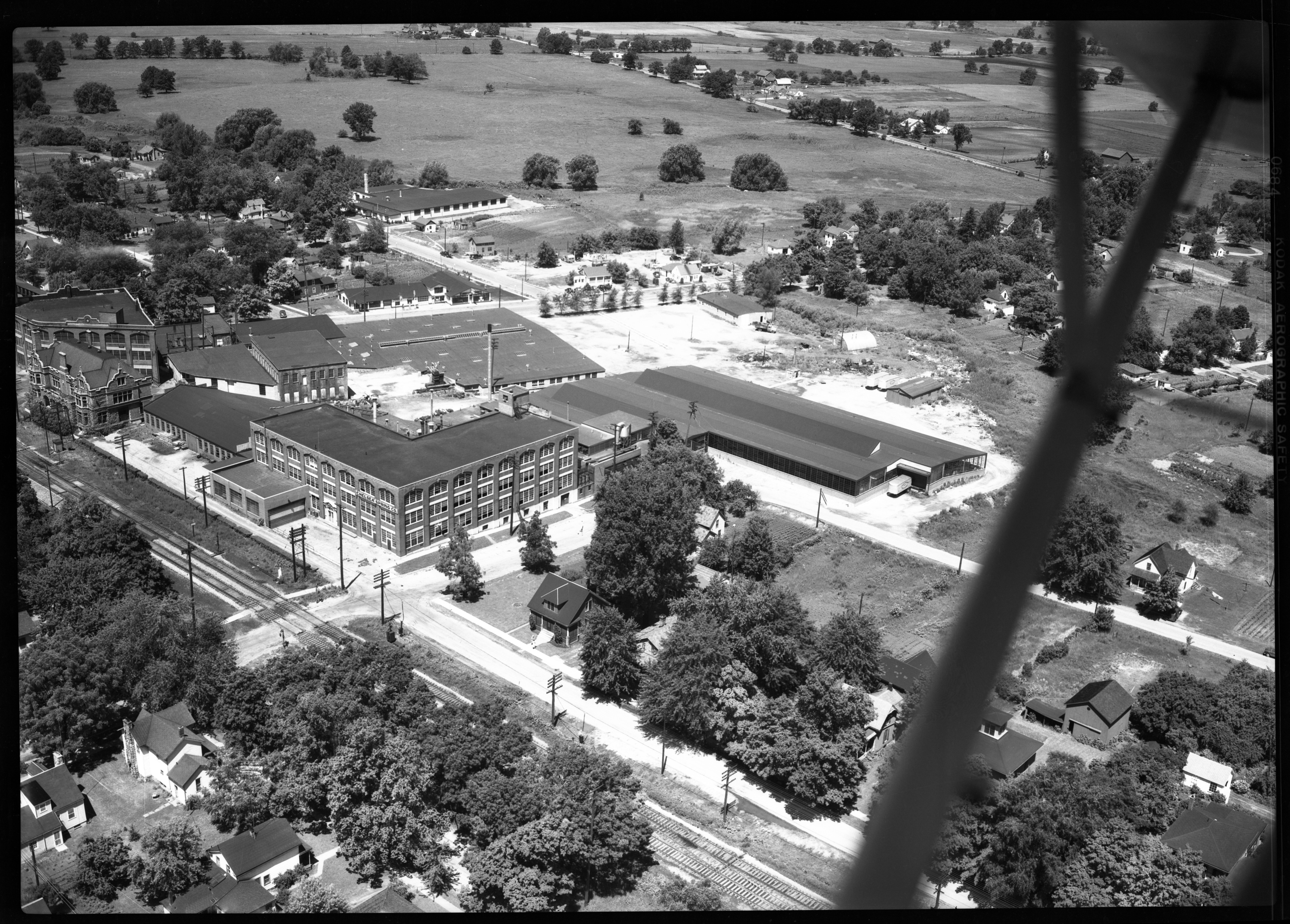 Aerial Photograph of the Chelsea Spring Co., June 1950 image