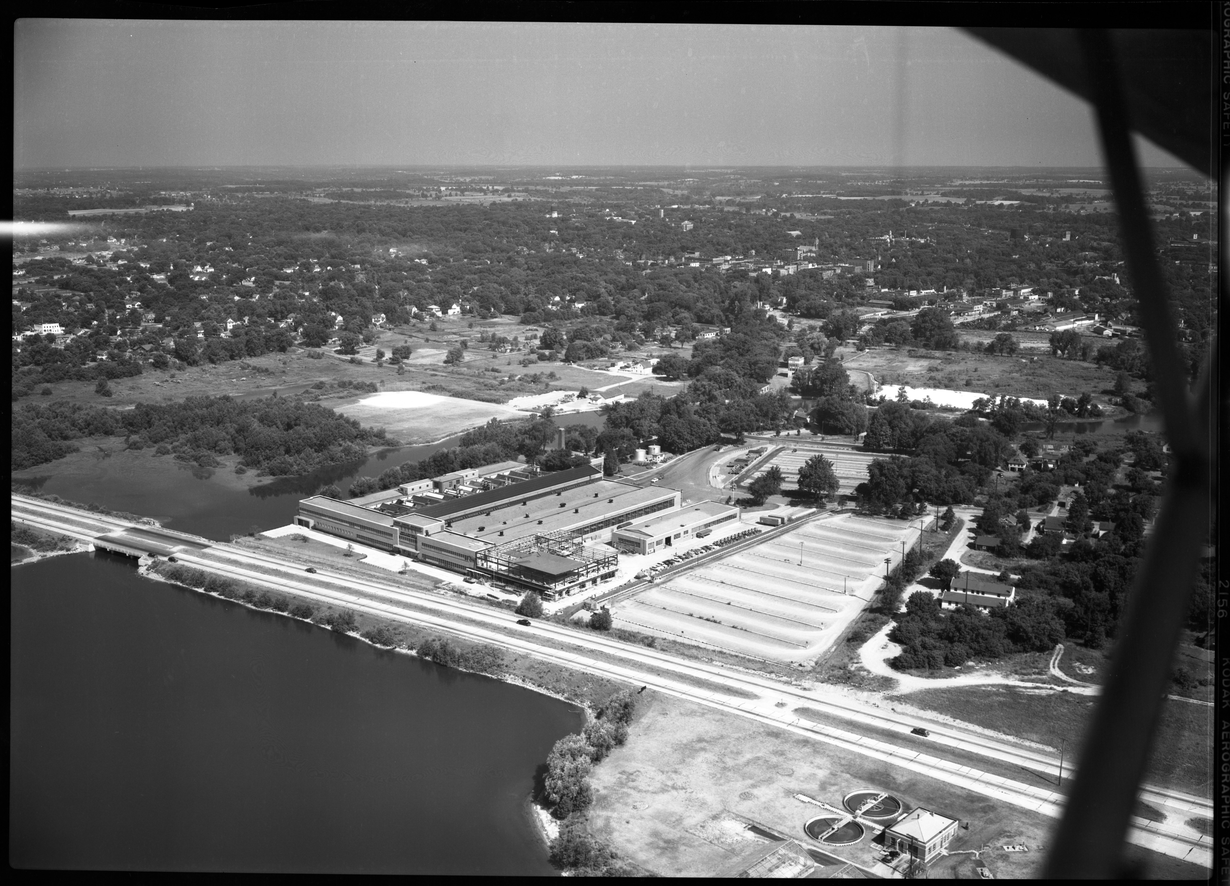 Aerial Photograph of the Ypsilanti Ford Motor Co. Plant, July 1950 image