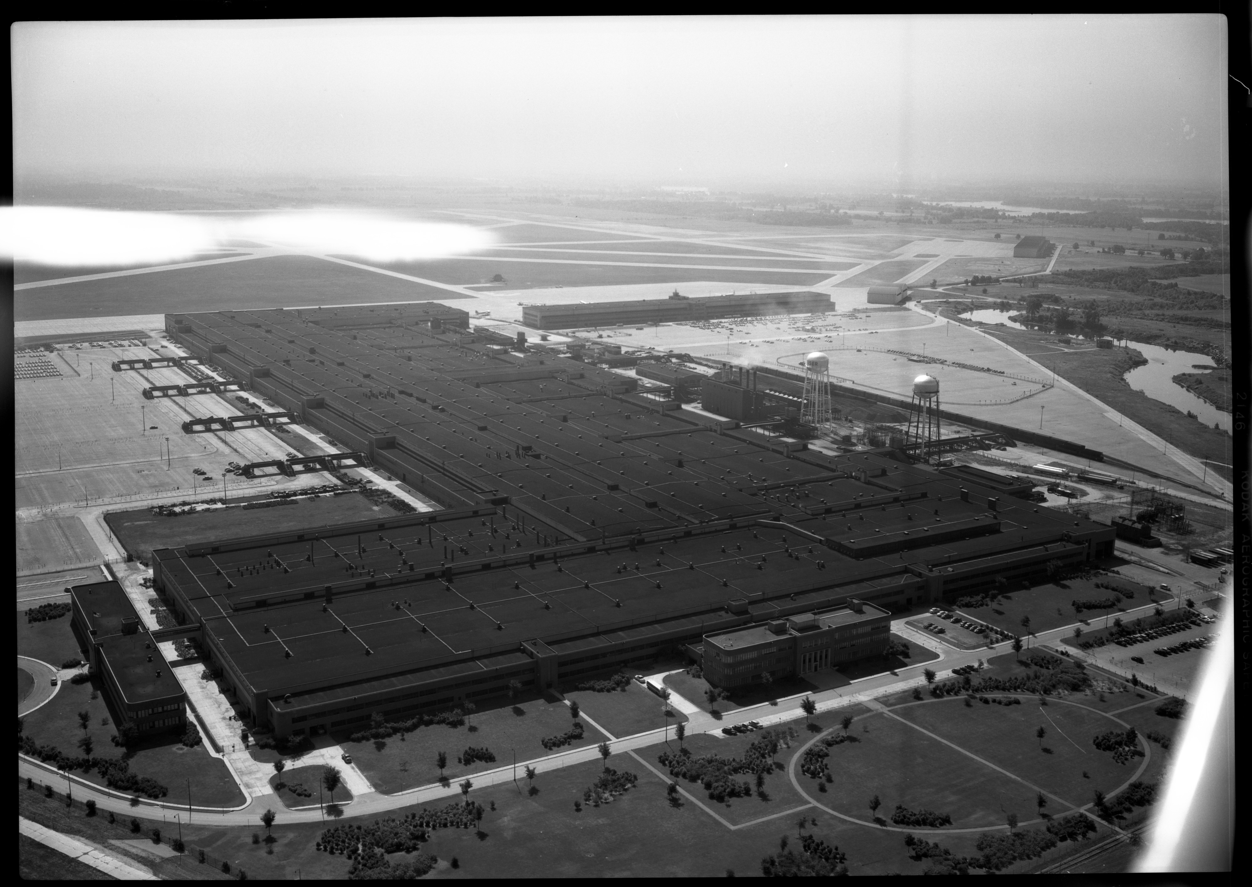 Aerial Photograph of the Kaiser-Frazer's Willow Run Plant, July 1950 image