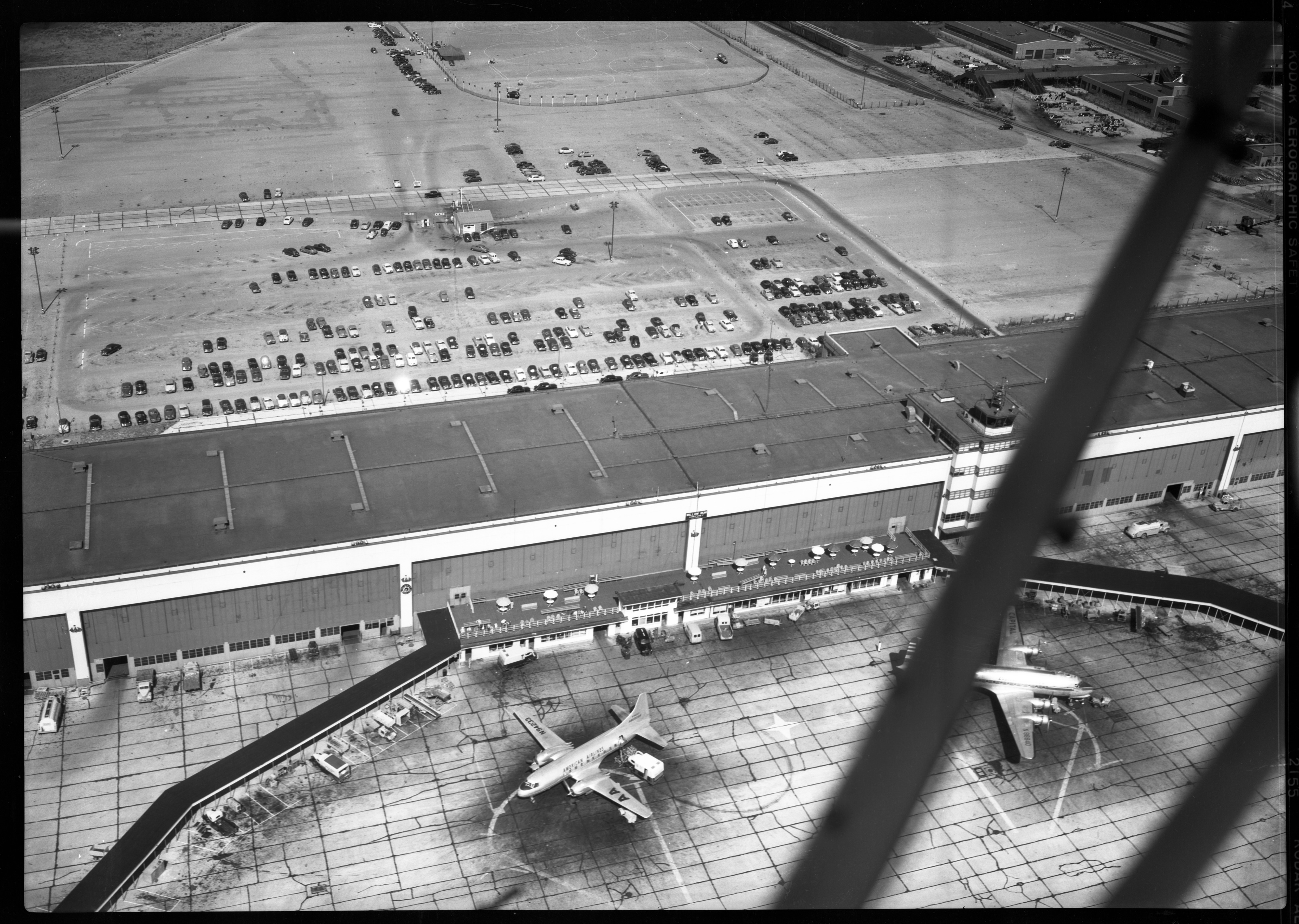 Aerial Photograph of Willow Run Airport, July 1950 image