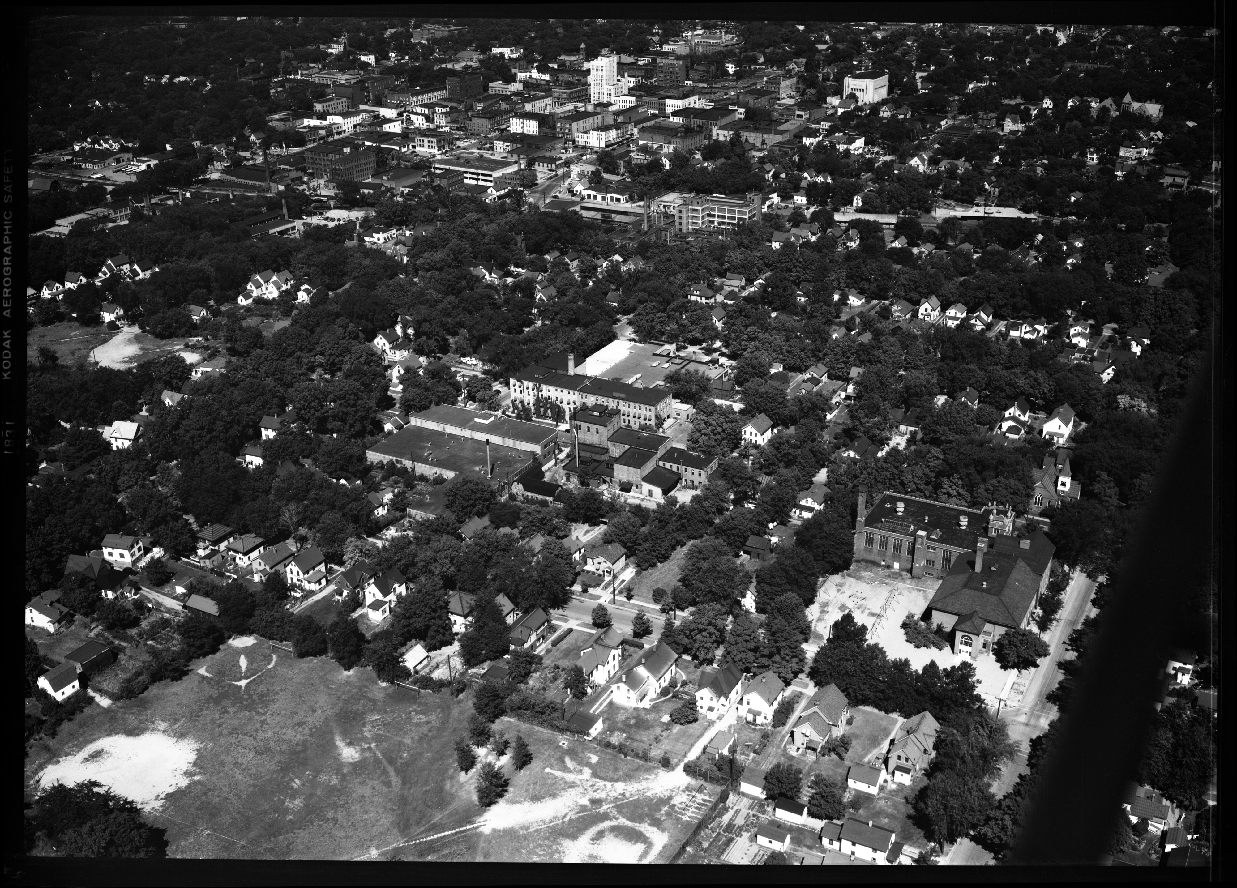 Aerial View of Ann Arbor Argus Plant, August 1950 image