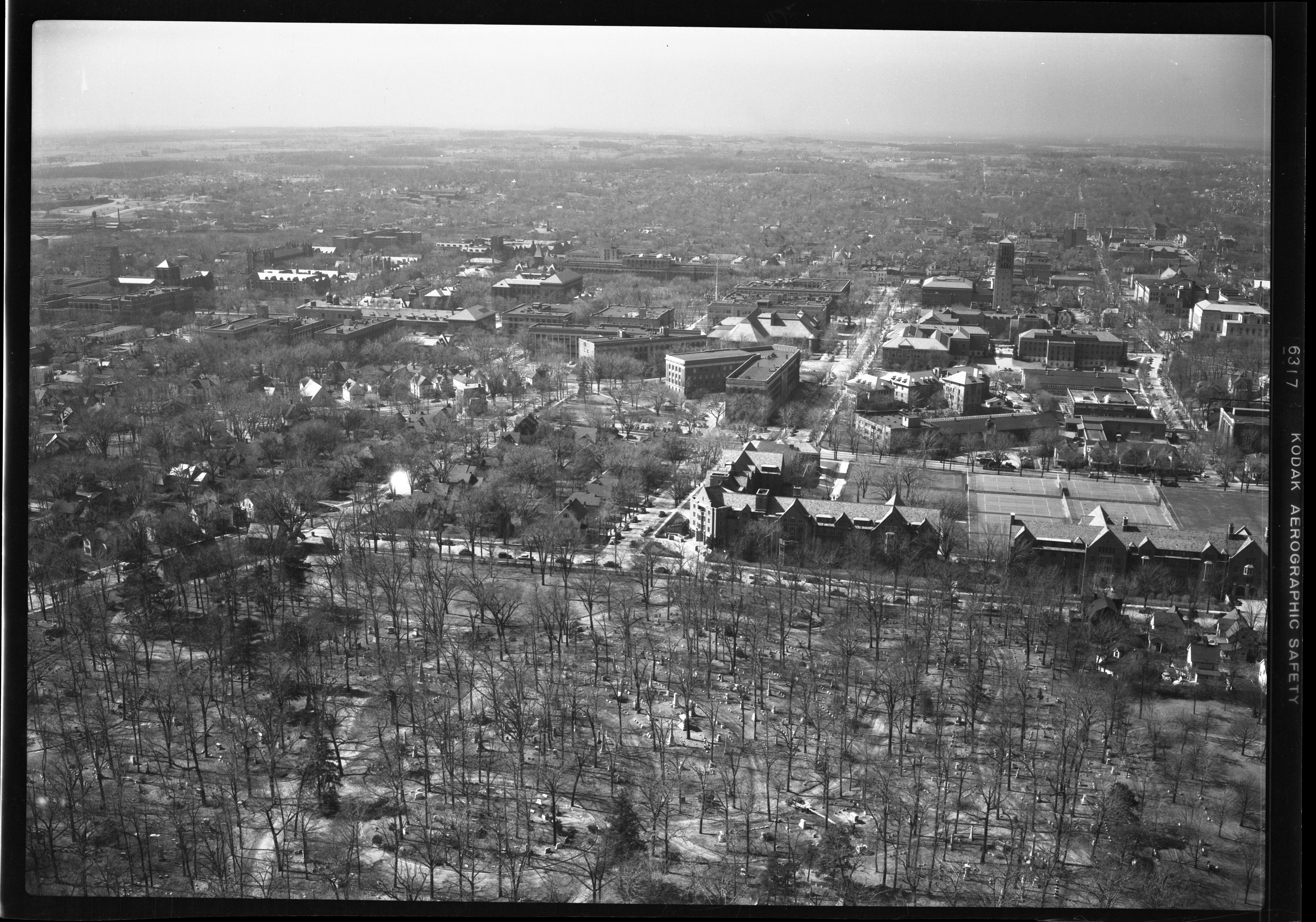 Aerial View Of Future Women's Athletic Building Site, March 1951 image