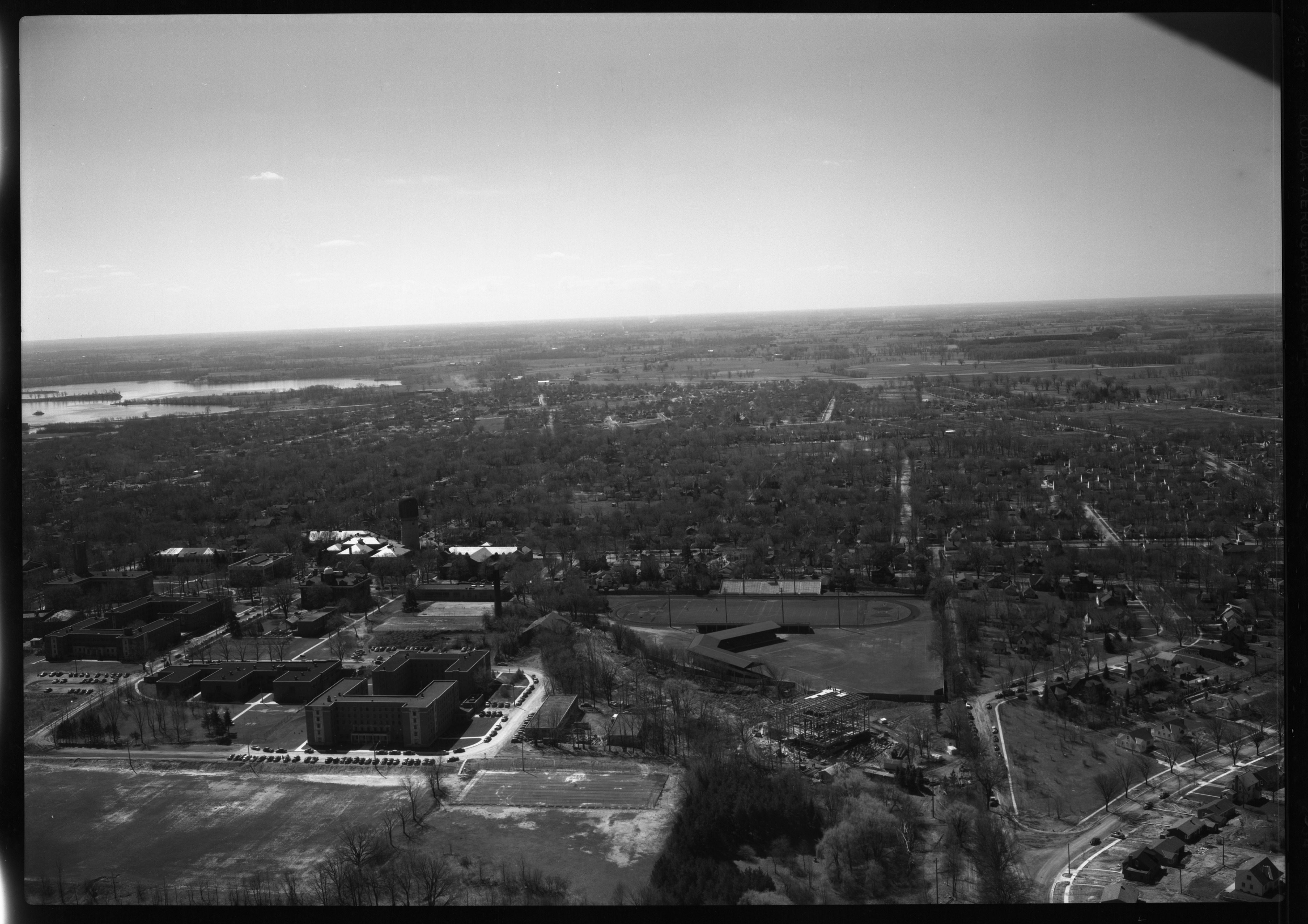 Aerial Photograph of Heating Plant at State Normal College, Ypsilanti, April 1951 image