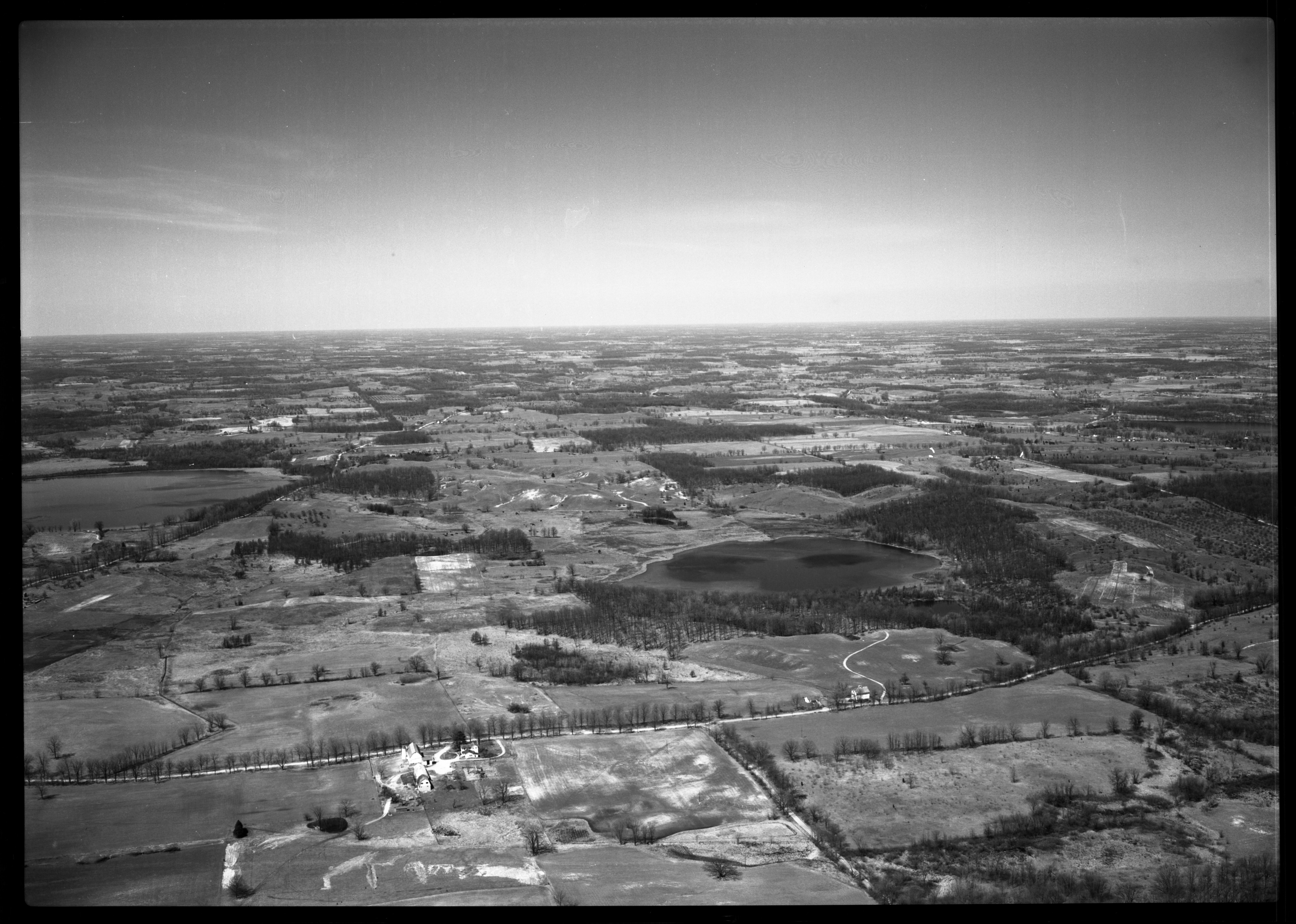 Aerial Photograph of the Southwest Corner of Dexter Township, April 1951 image