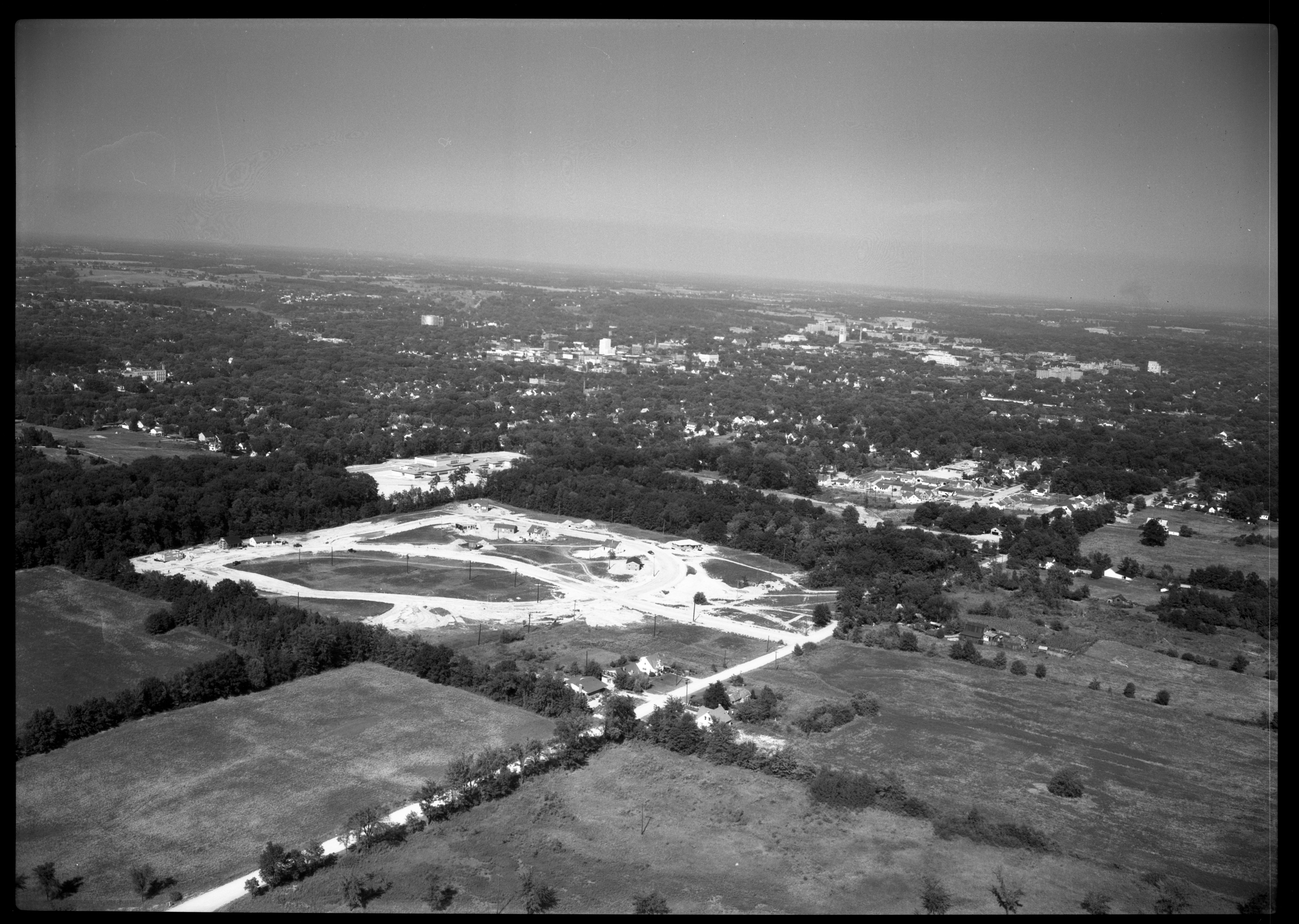 Aerial Photograph of Arbordale Subdivision, August 1951 image