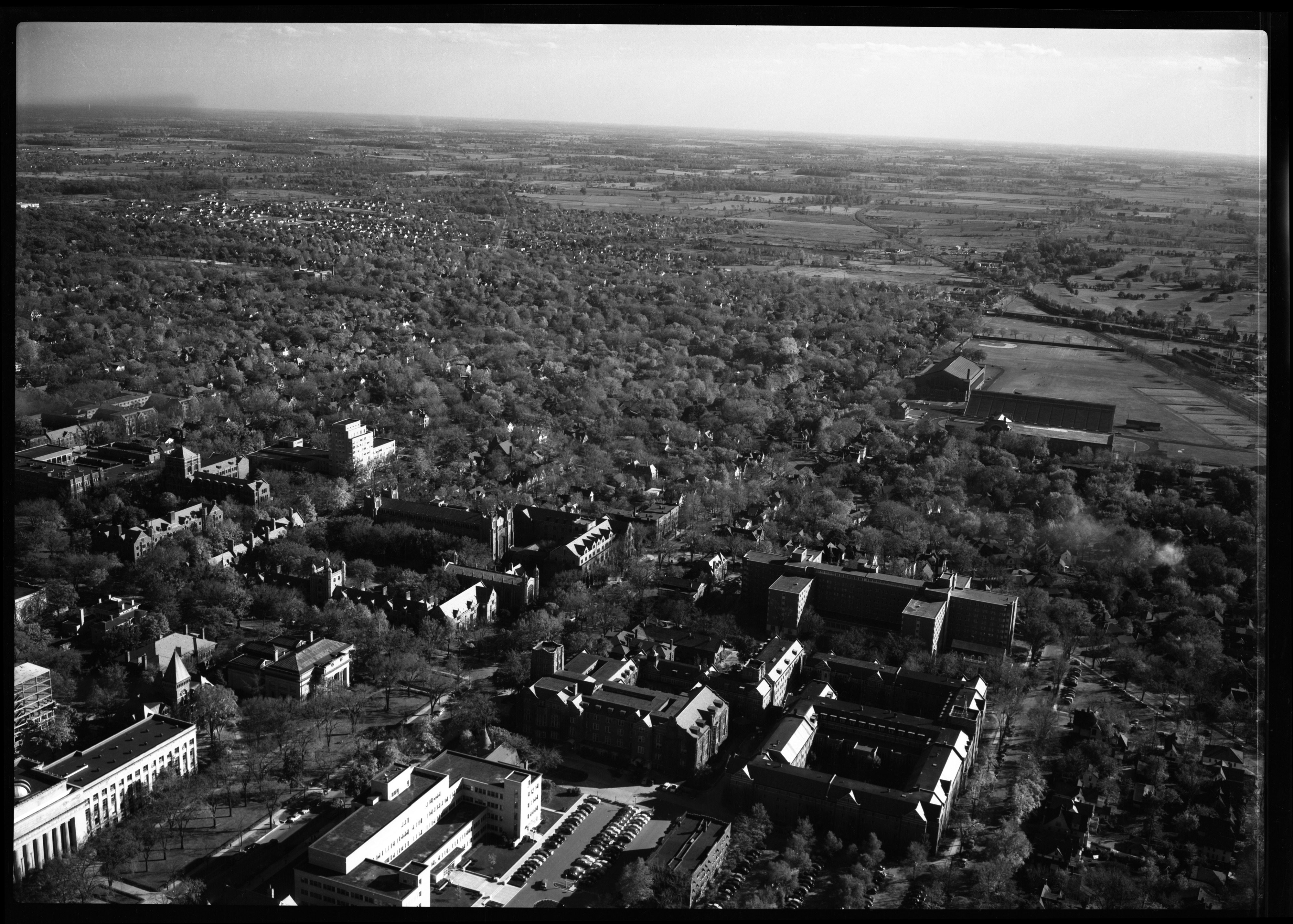 Aerial view of new University of Michigan Dormitory, October 1951 image