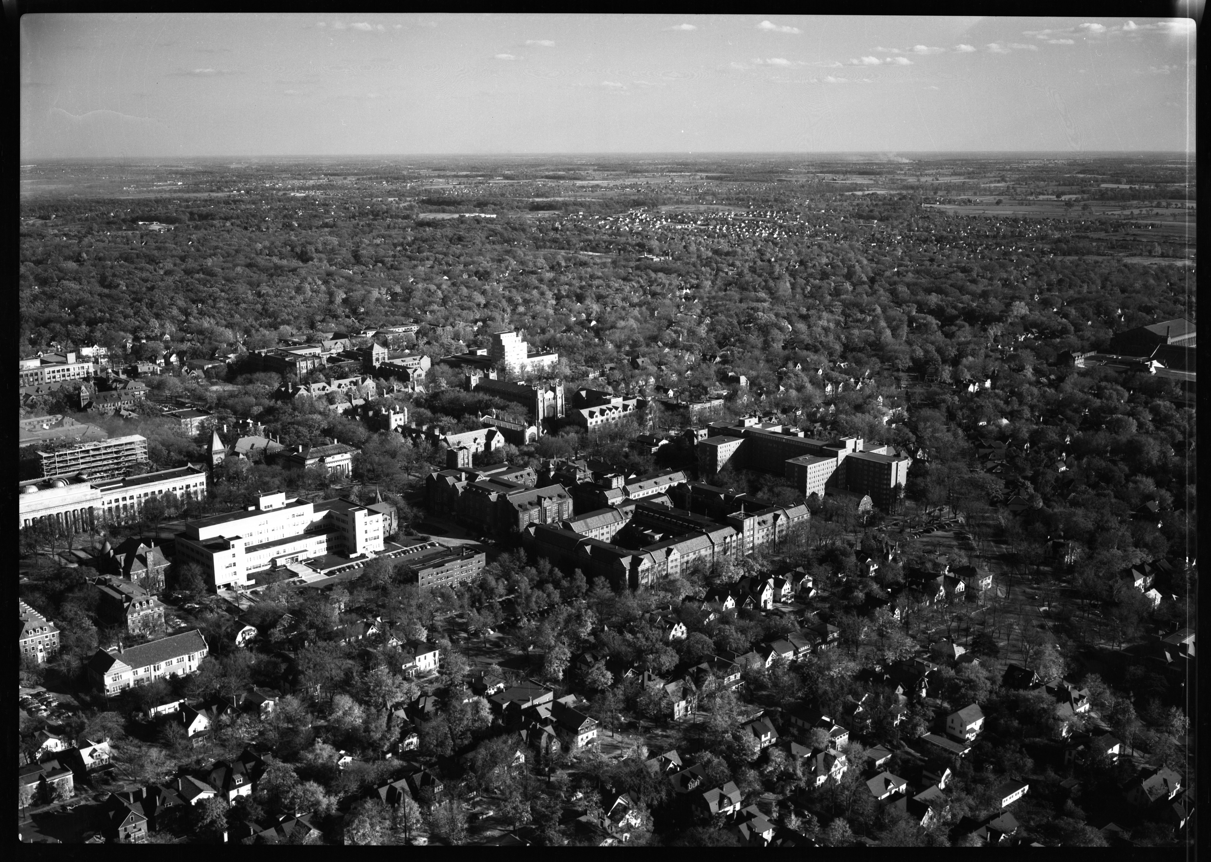 Aerial view of University of Michigan Men's Dormitory, October 1951 image