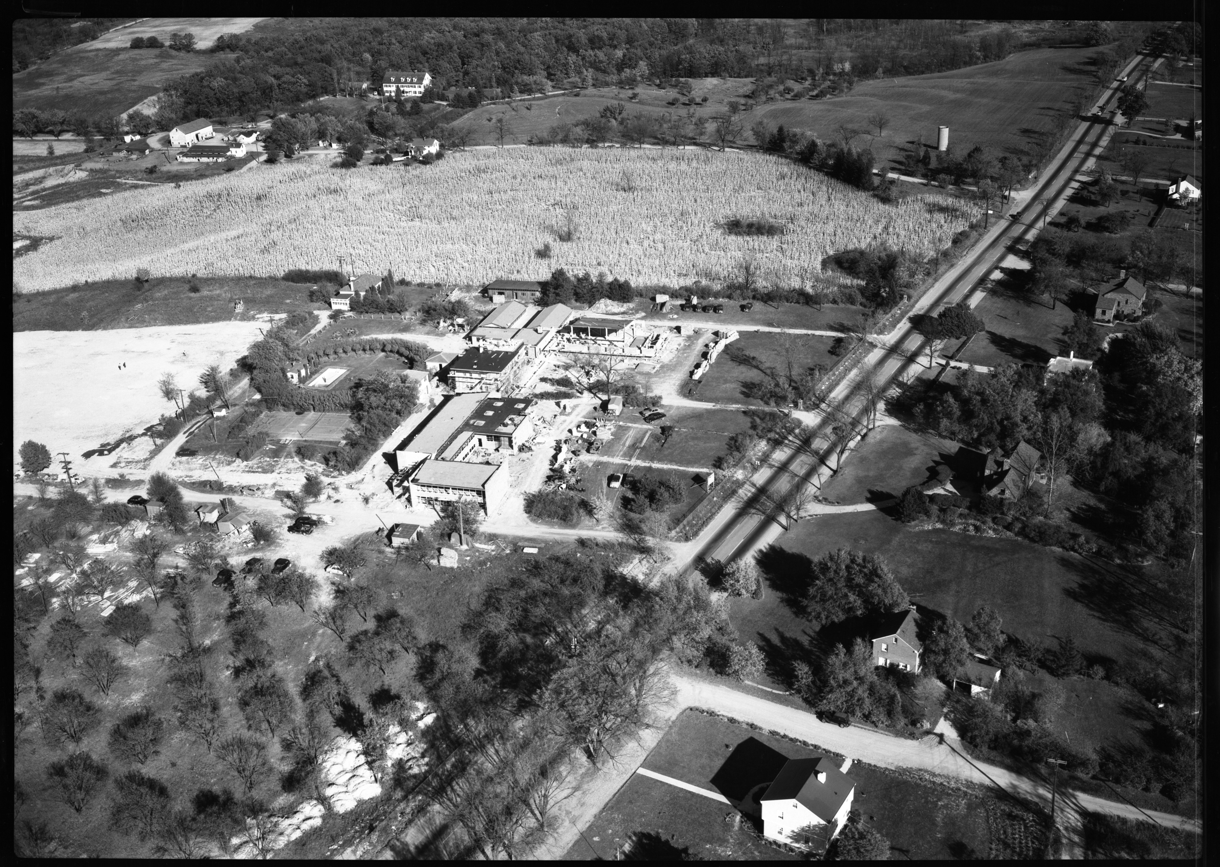 Aerial Photograph of Holy Ghost Fathers Seminary, Washtenaw Ave., October 1951 image
