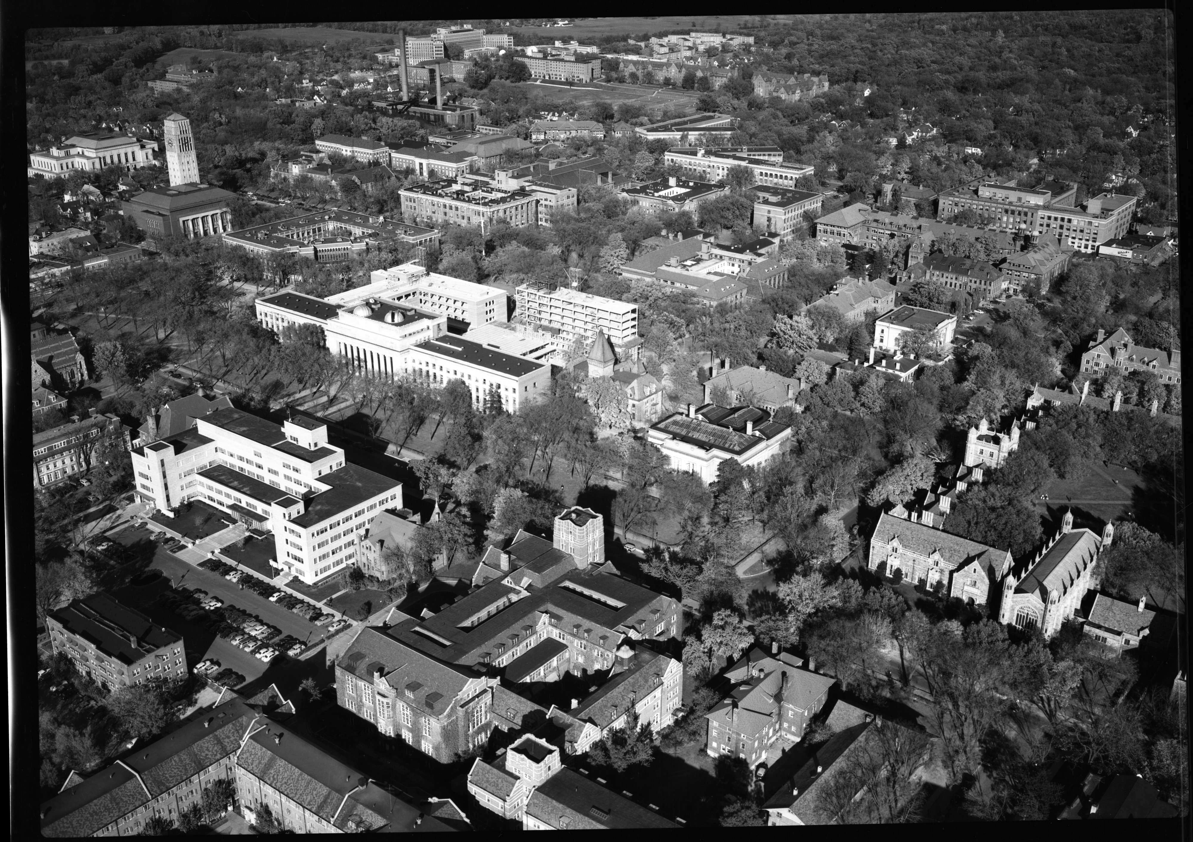 Angell Hall Progress, October 1951 image
