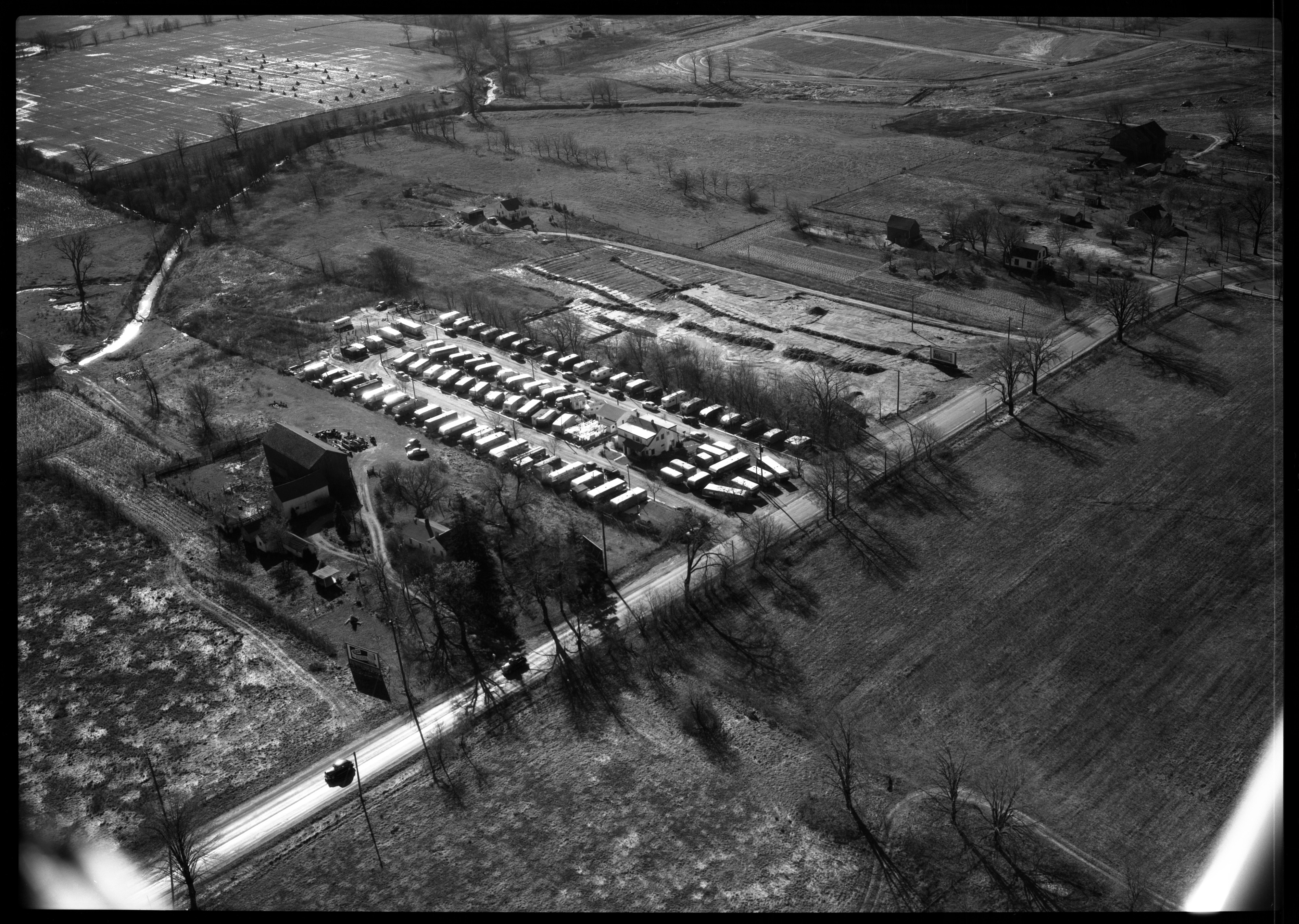 Aerial Photograph of Sunnyside Trailer Park, November 1951 image