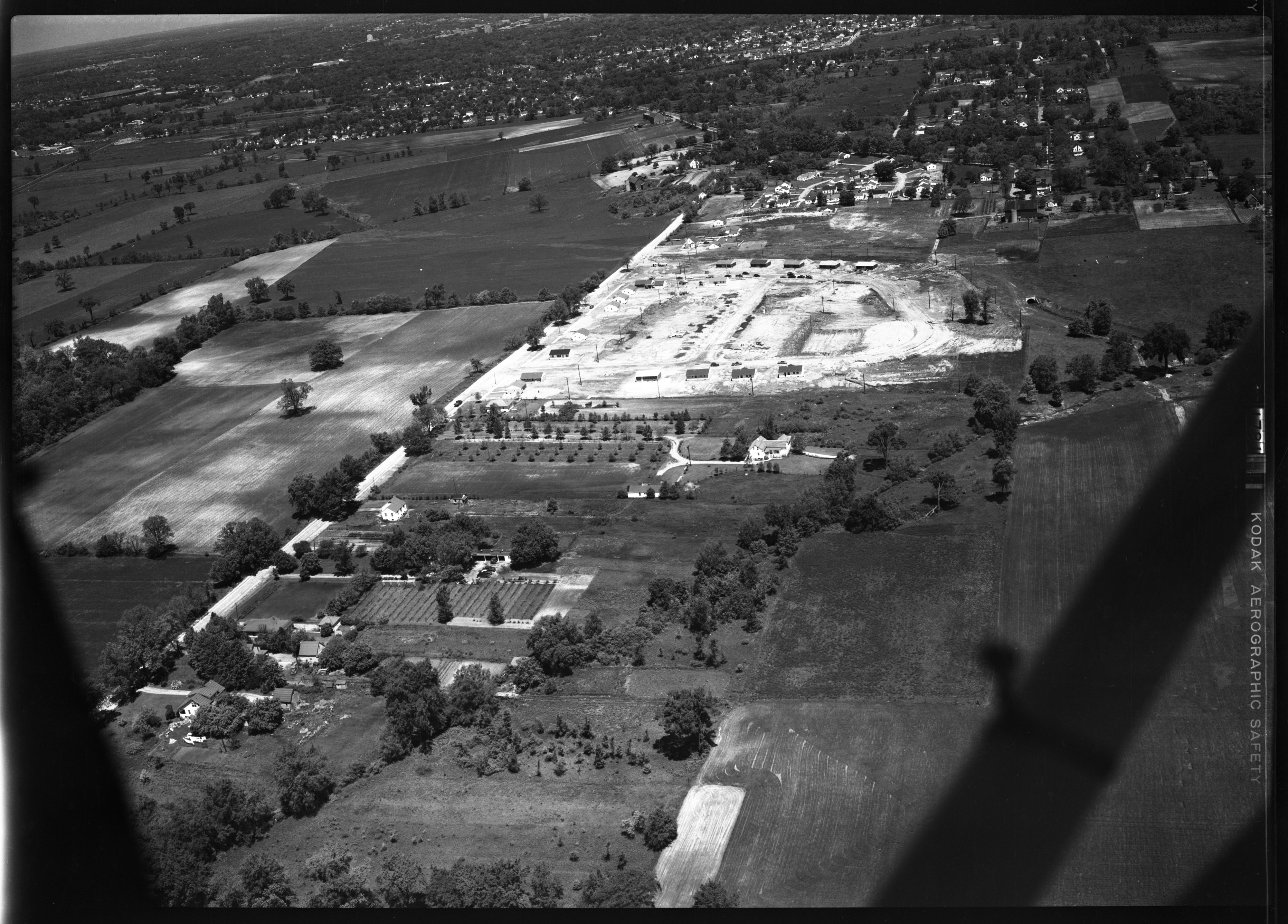 Aerial Photograph of Brookside Subdivision Construction, May 1952 image