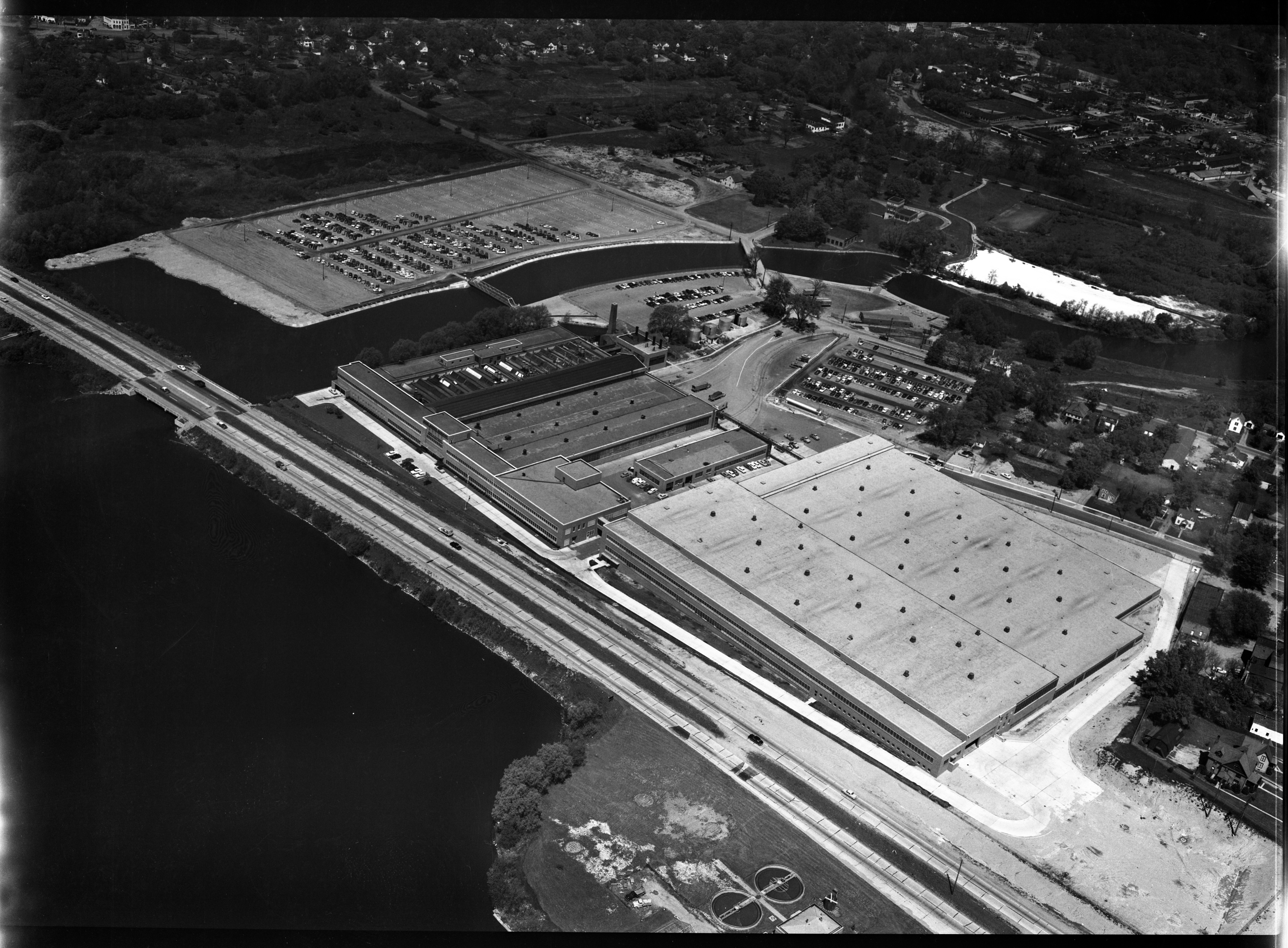 Aerial Photograph of the Ypsilanti Ford Motor Co. Plant, May 1953 image