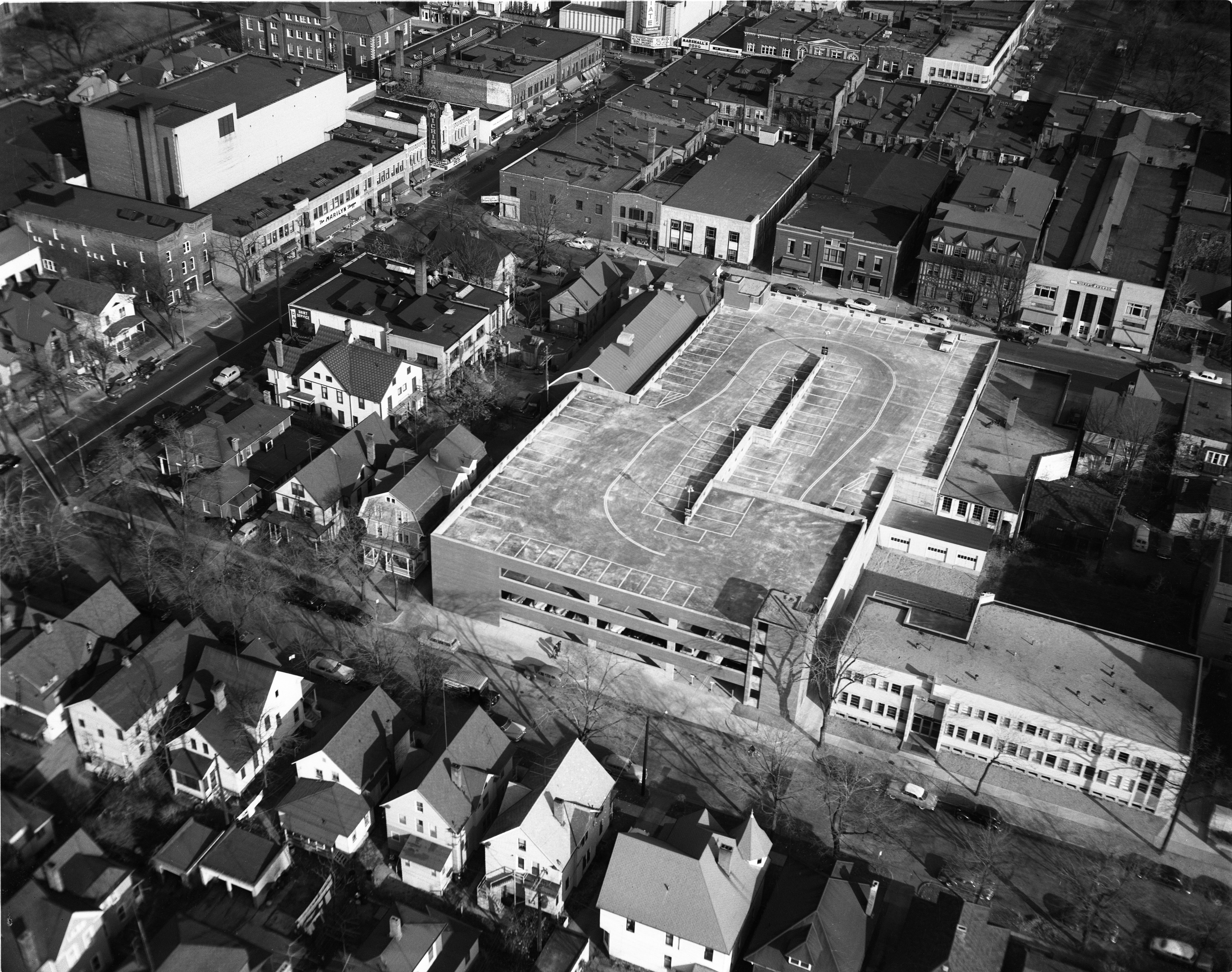 Aerial Photo Of Maynard Street Carport, April 1954 image