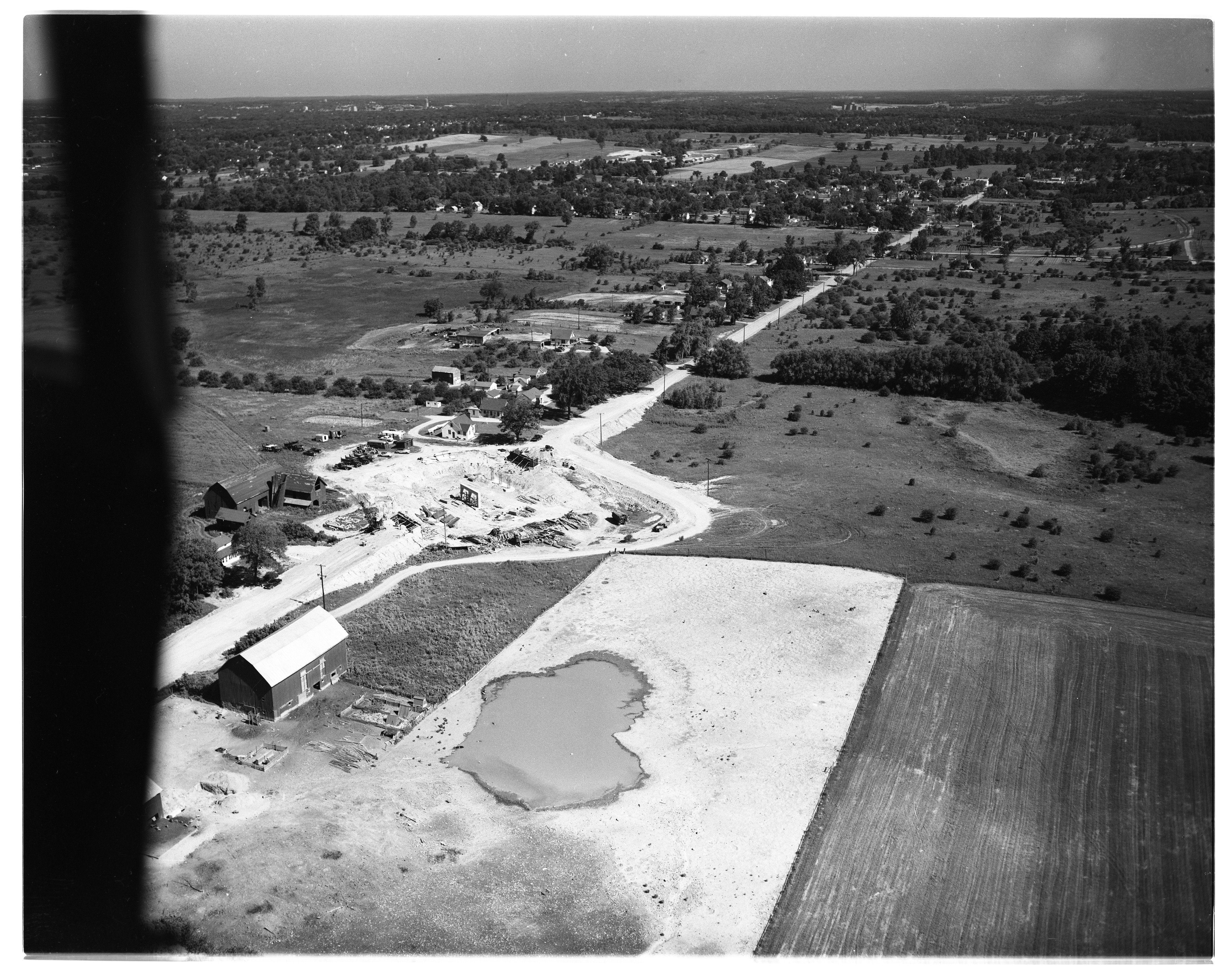 Aerial Photograph of Willow Run Expressway Extension Construction, July 1954 image