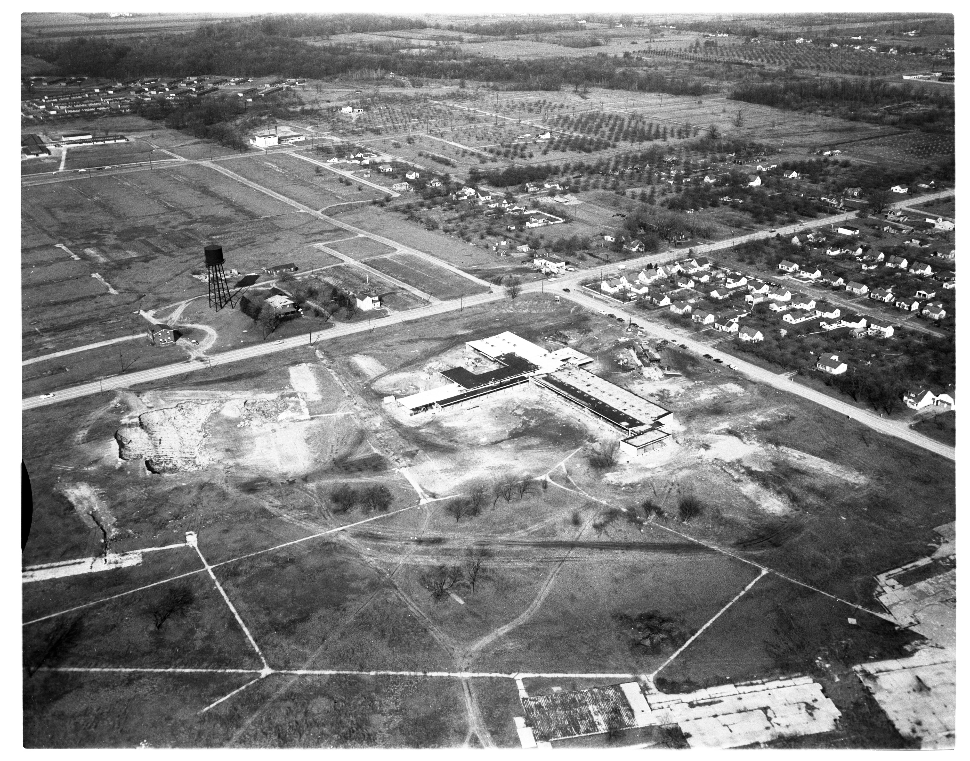 Aerial Photograph of Willow Run High School, Ypsilanti Township, March 1955 image