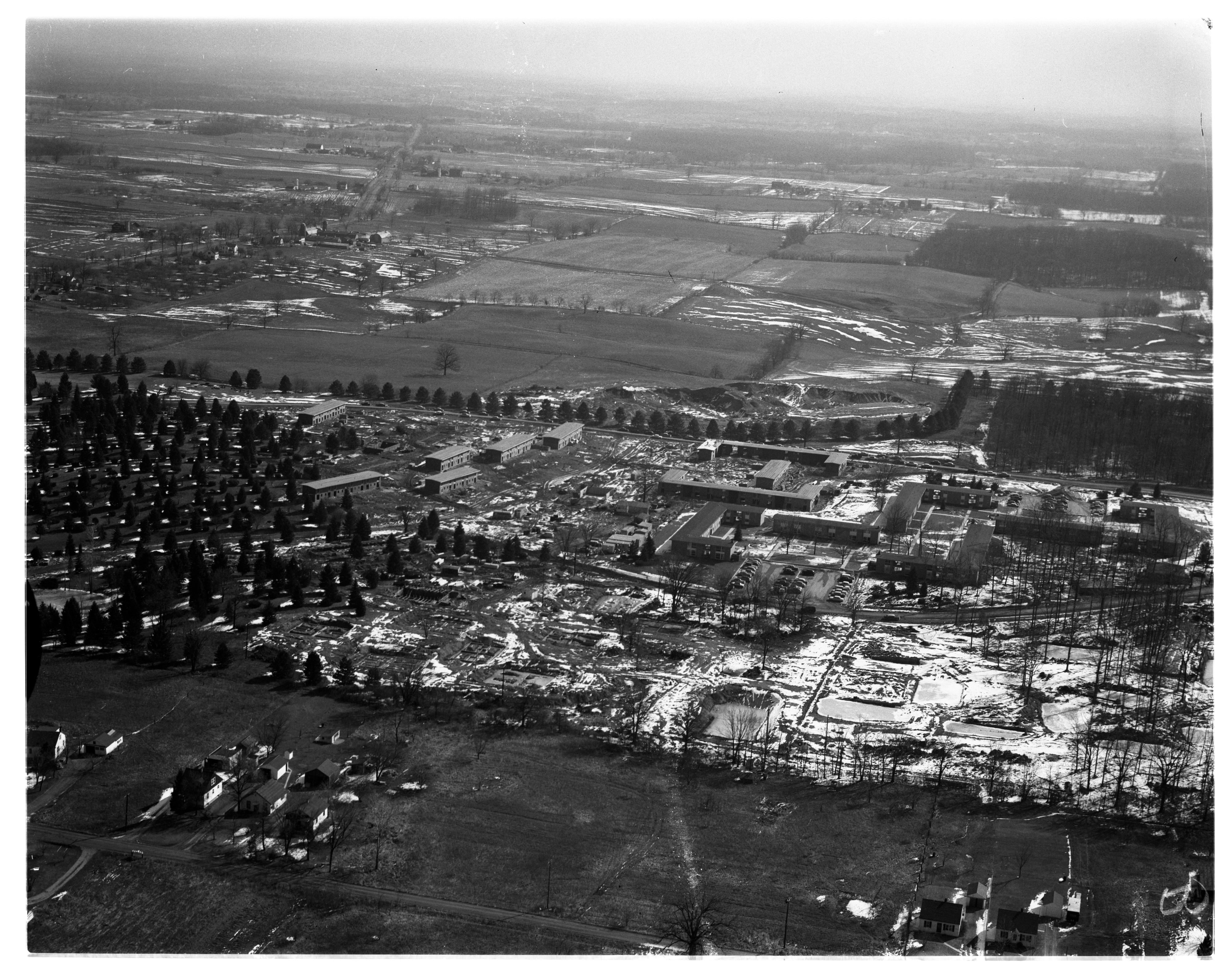 Aerial Photograph of the University's North Campus Addition, March 1956 image