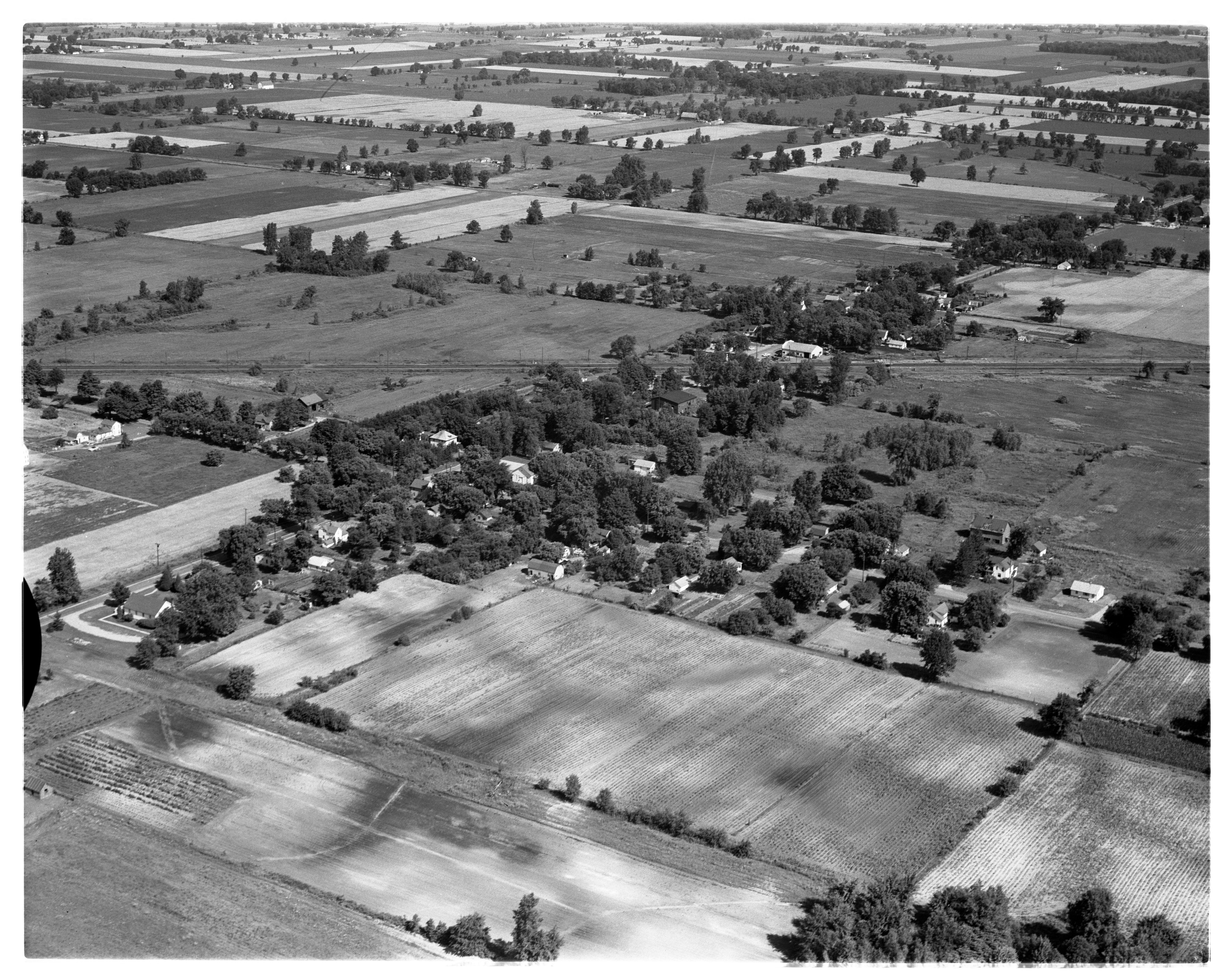 Aerial Photograph of the Village of Whittaker, July 1956 image