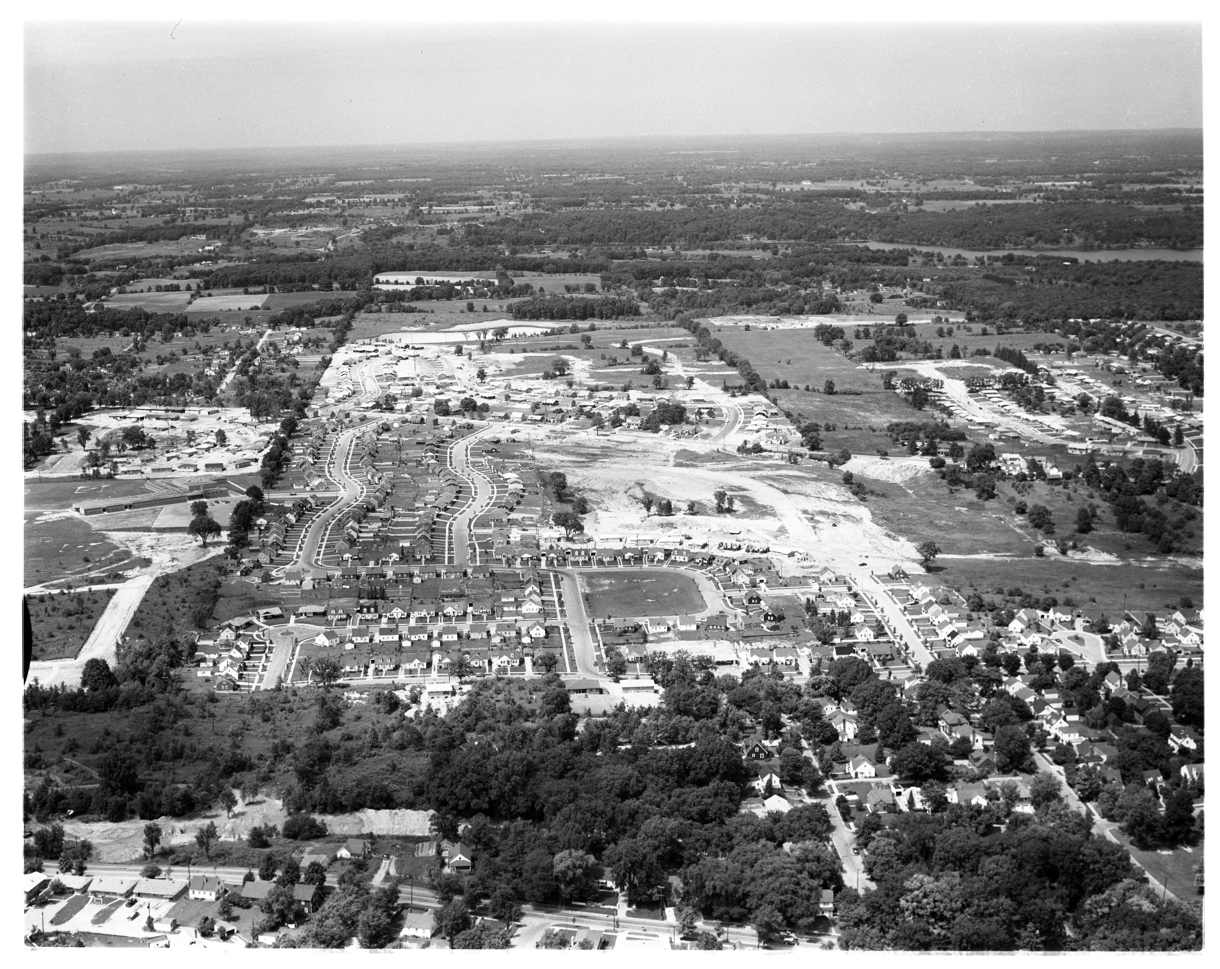 Aerial View of Westaire and Arbor Heights Subdivisions, July 1956 image