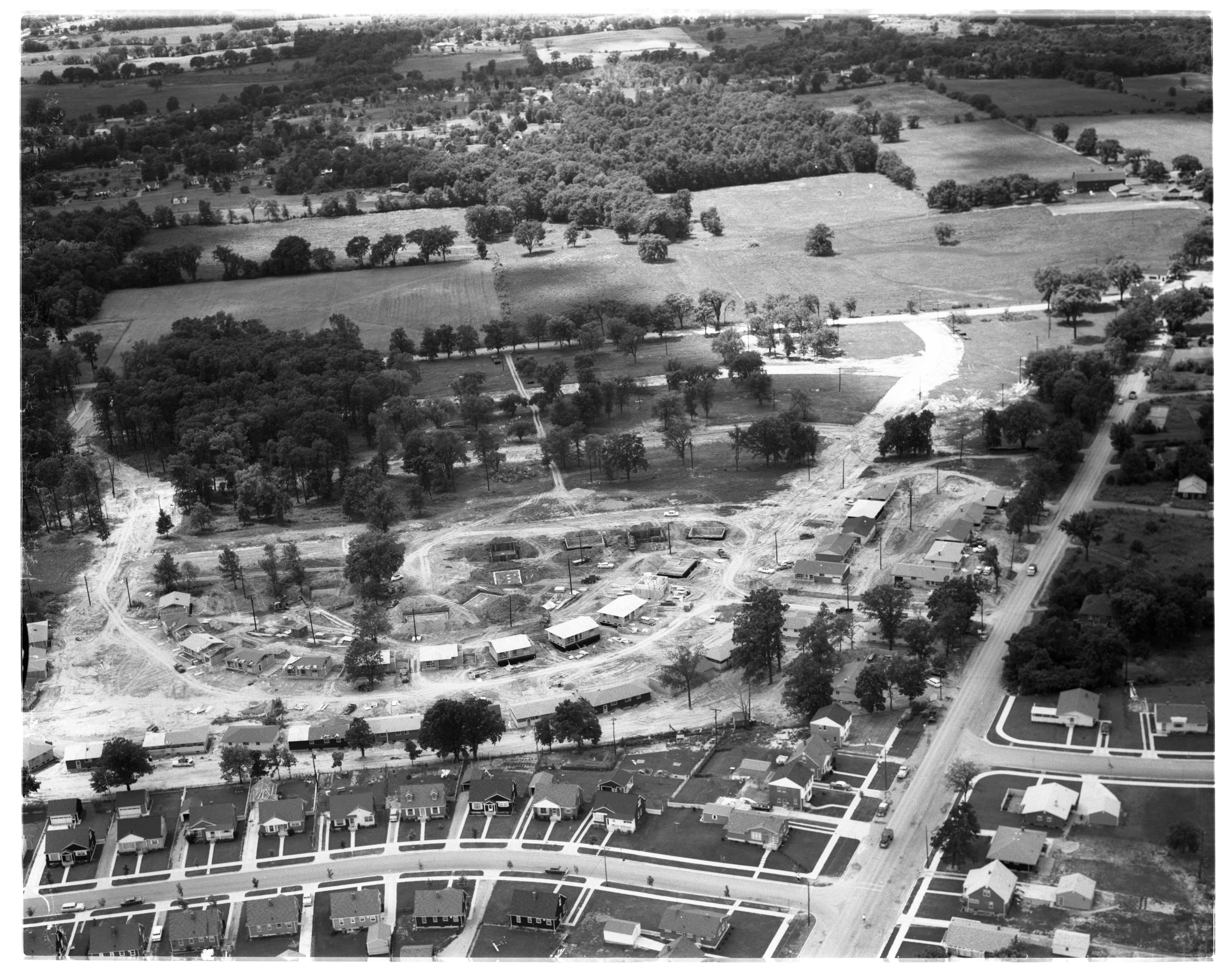 Aerial Photograph of Westaire Subdivision, July 1956 image