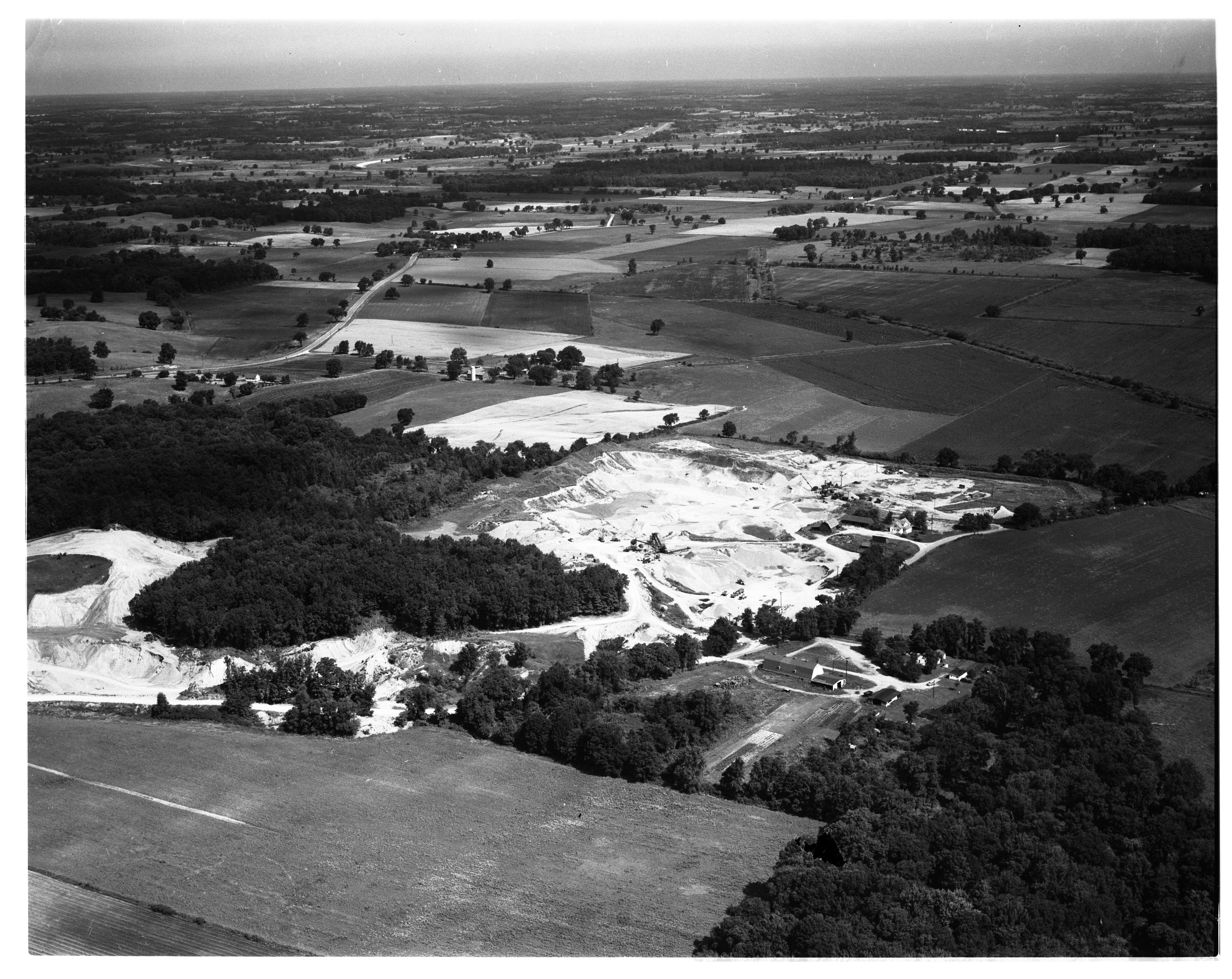 Aerial Photograph of the Perkins Road Gravel Pit, Sharon Township, July 1956 image