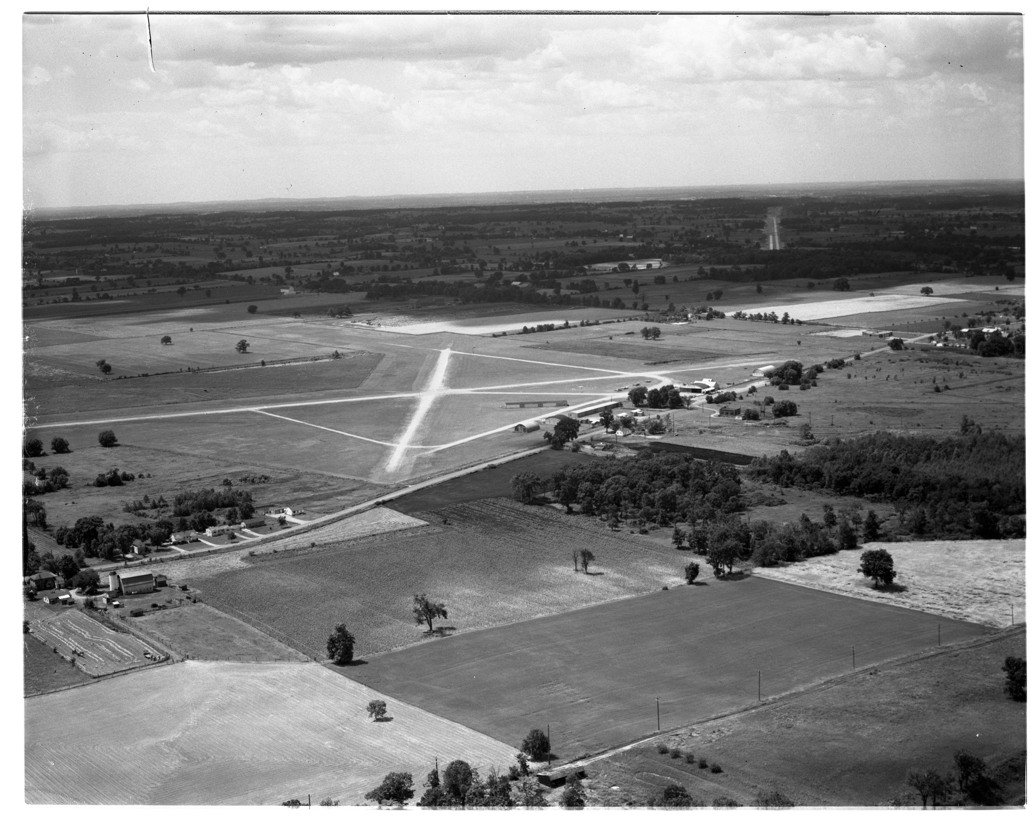 Aerial Photograph of the Ann Arbor Airport, July 1956 image