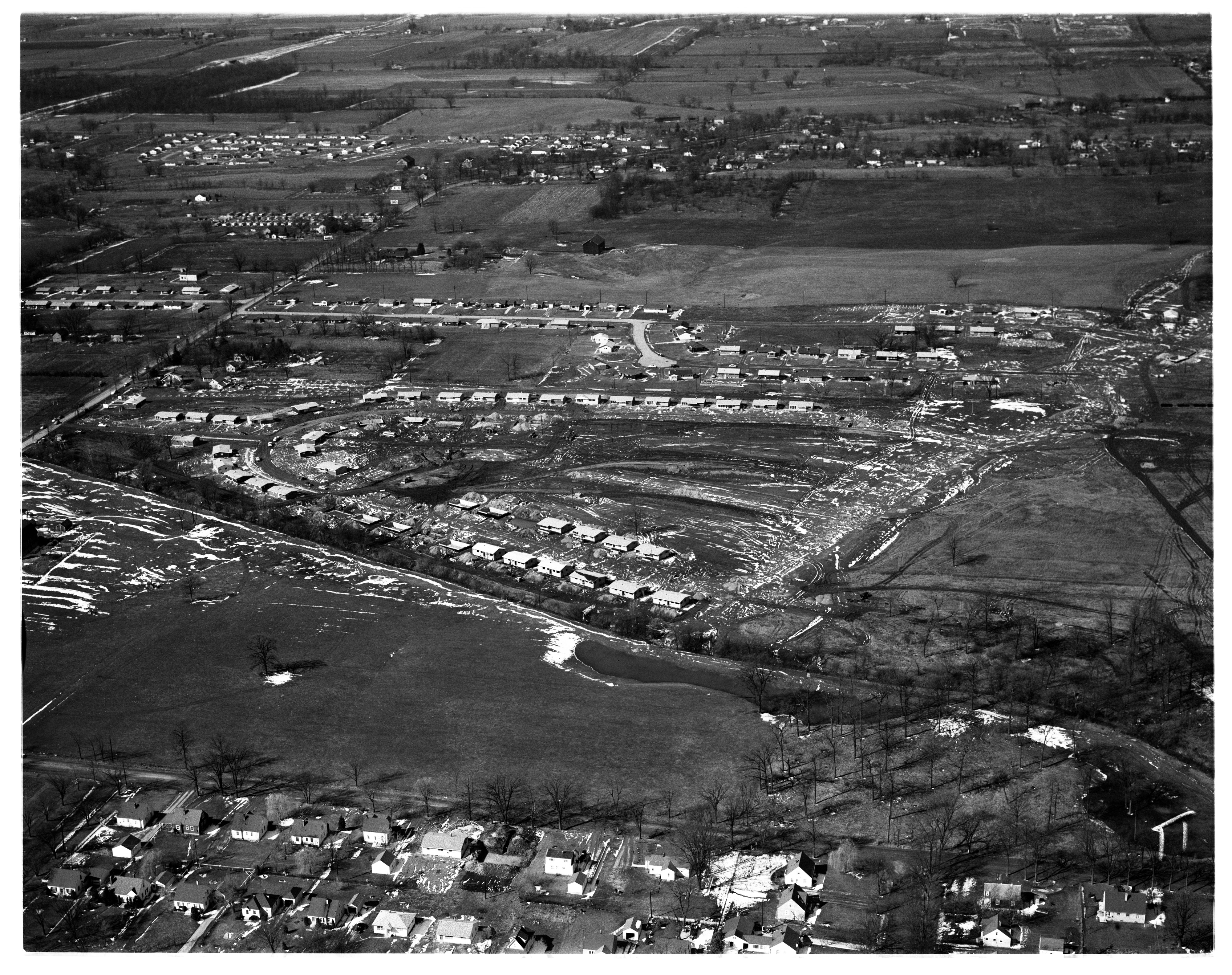 Aerial Photograph of Kensington Farms Subdivision, July 1956 image