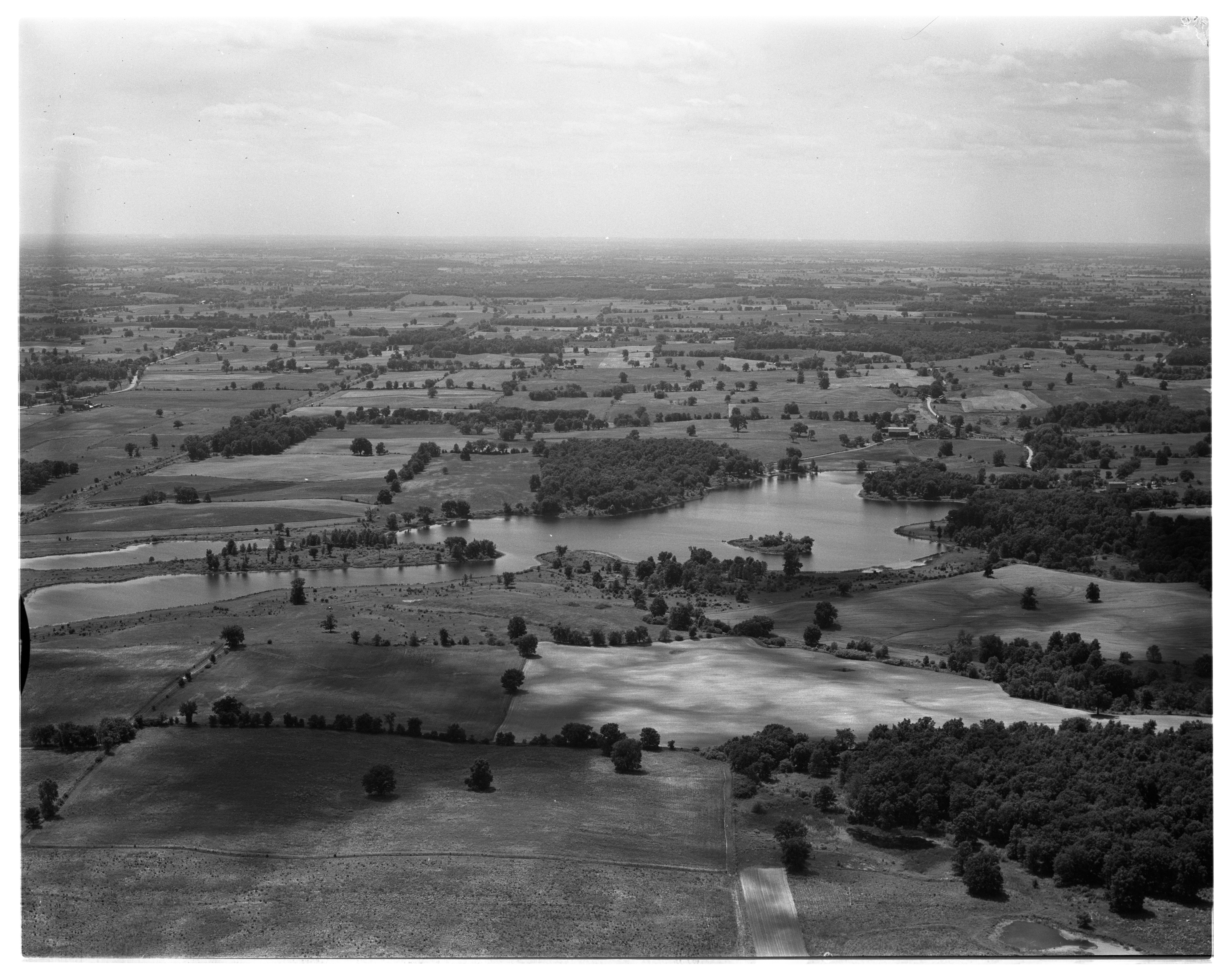Aerial Photograph of Columbia Lake, Bridgewater Township, July 1956 image