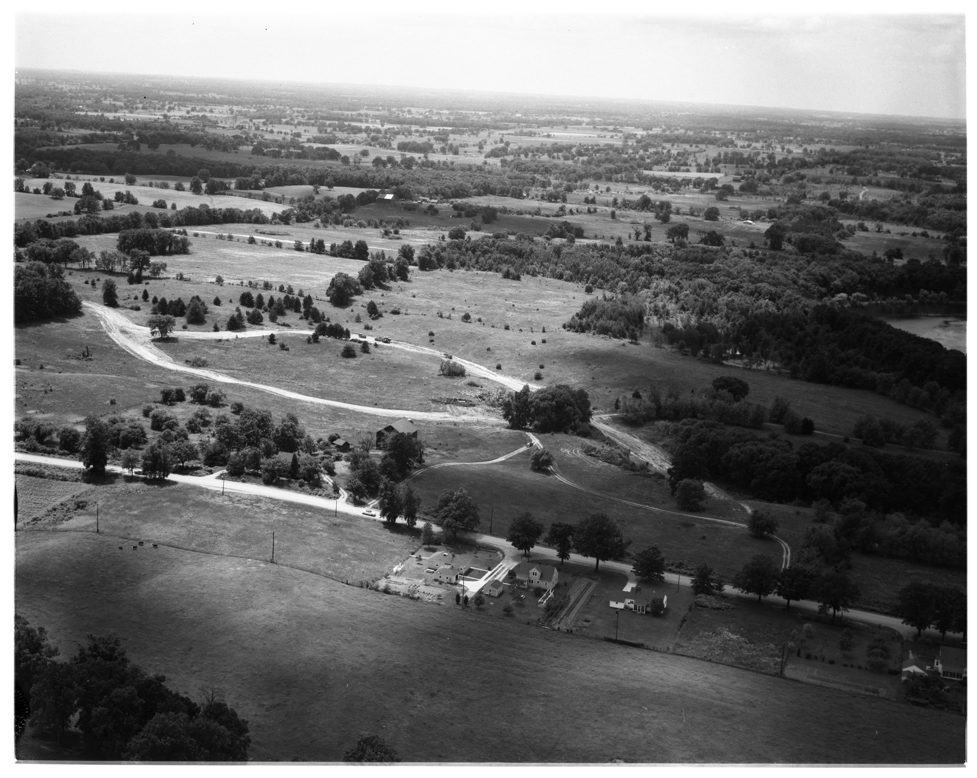 Aerial Photograph of Huron Heights Subdivision Development, July 1956 image