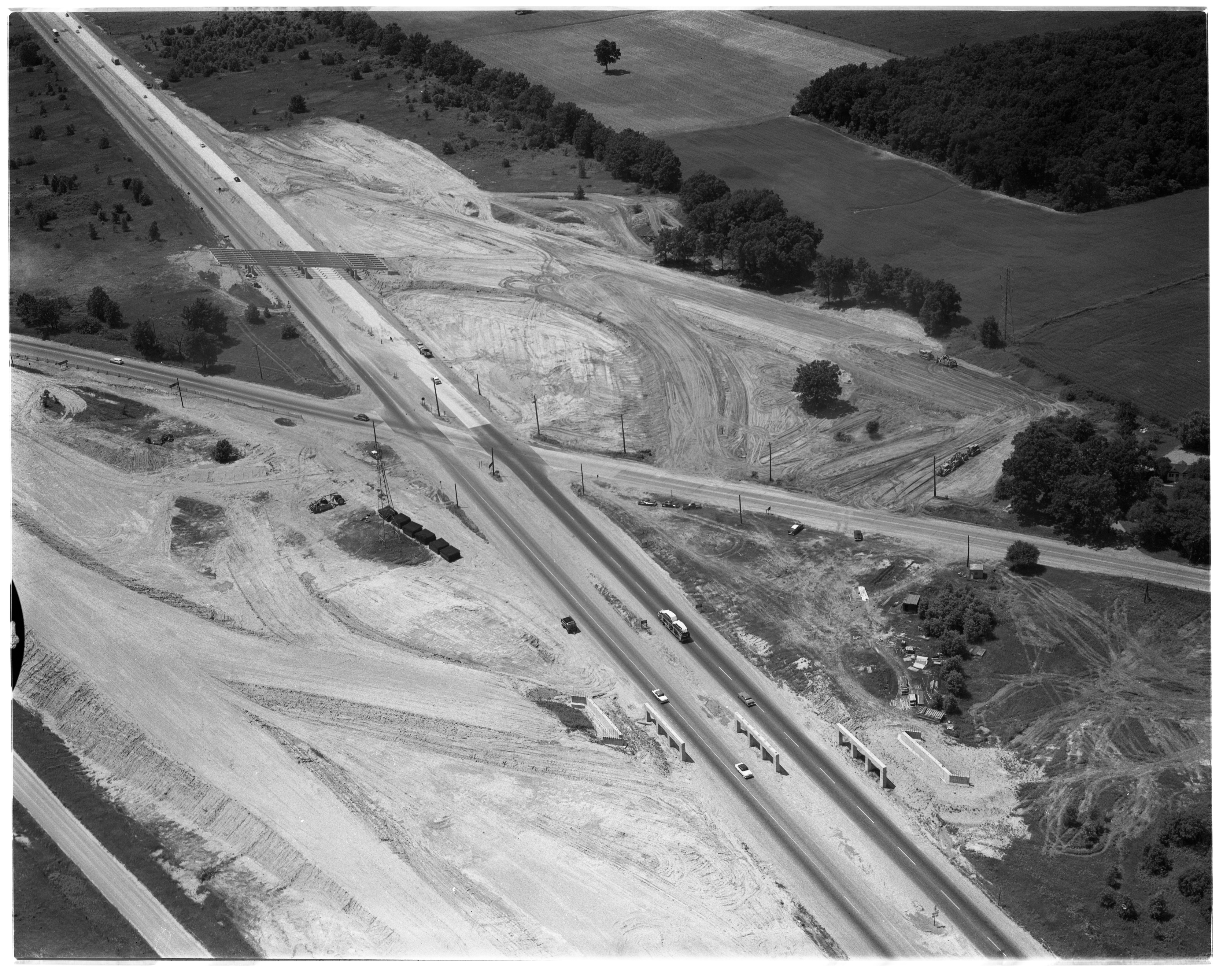 Aerial Photograph of W. Michigan Ave (US-112) Overpass, August 1956 image