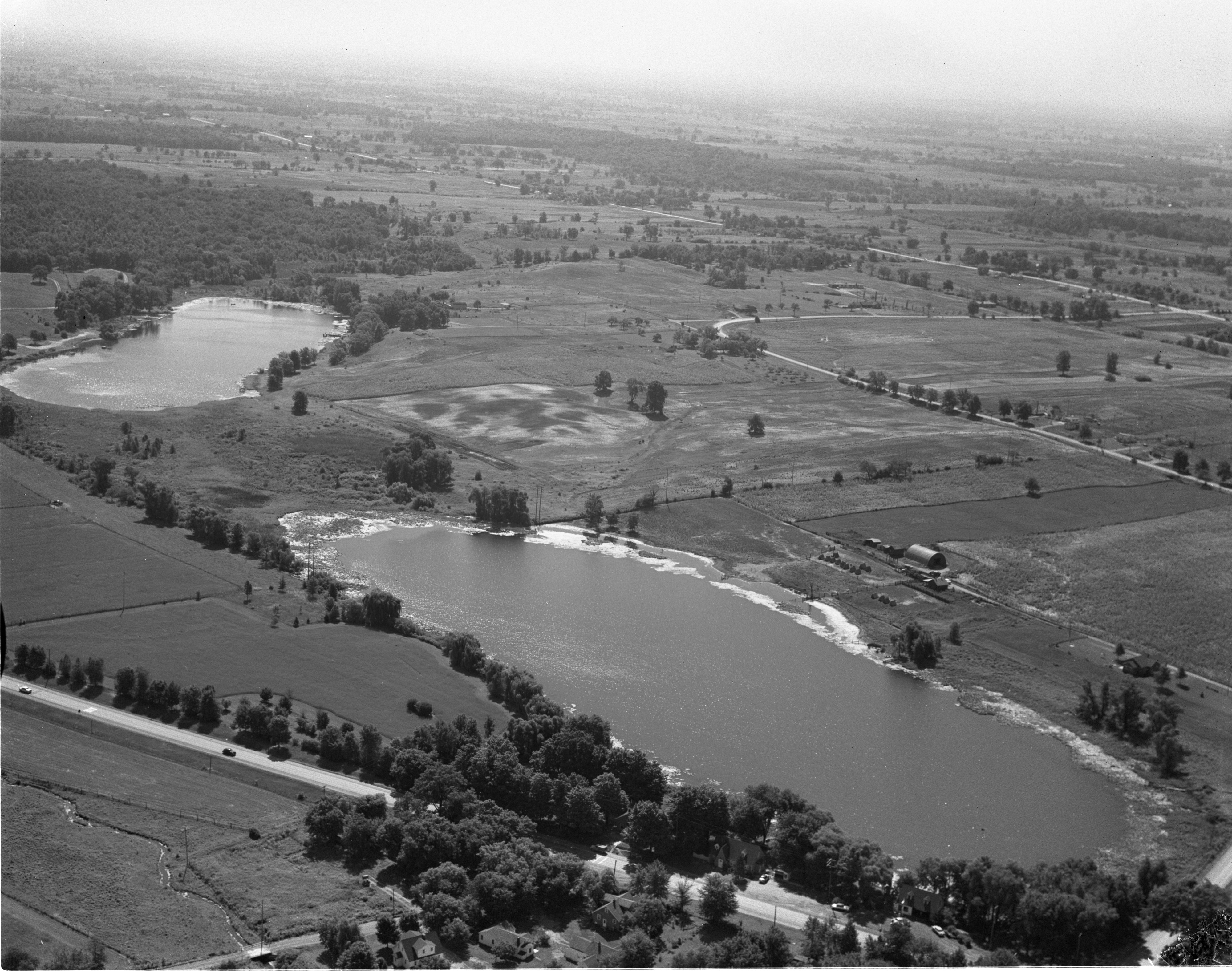 Aerial View Of Frain's Lake & Murray's Lake - Superior Township, August 1956 image