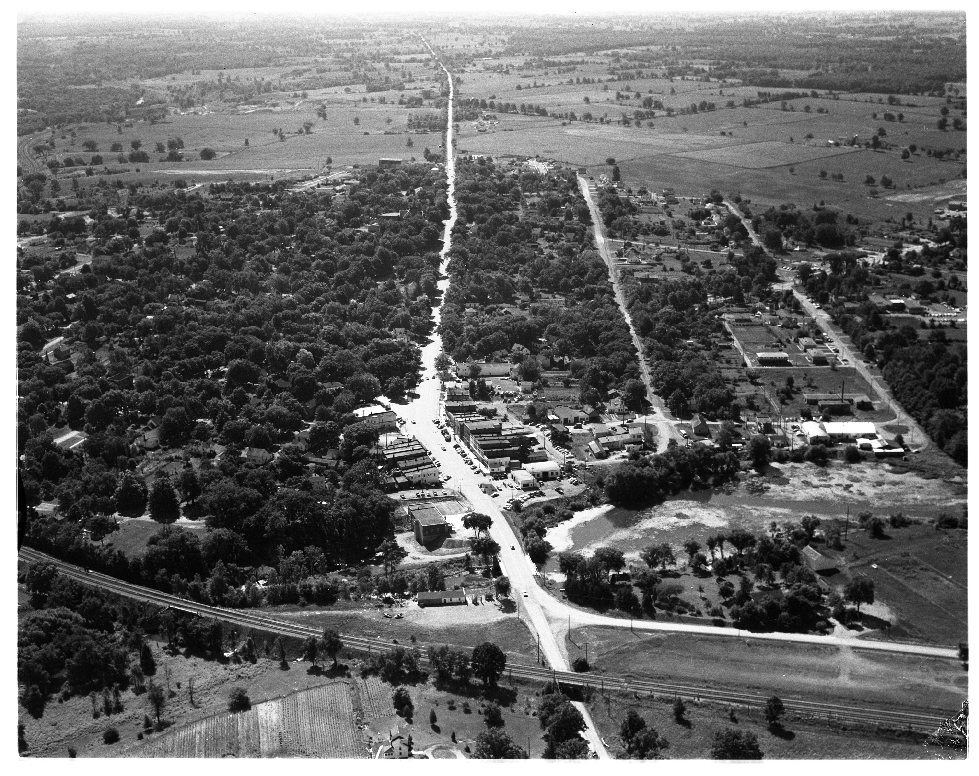 Aerial Photograph of Dexter, August 1956 image
