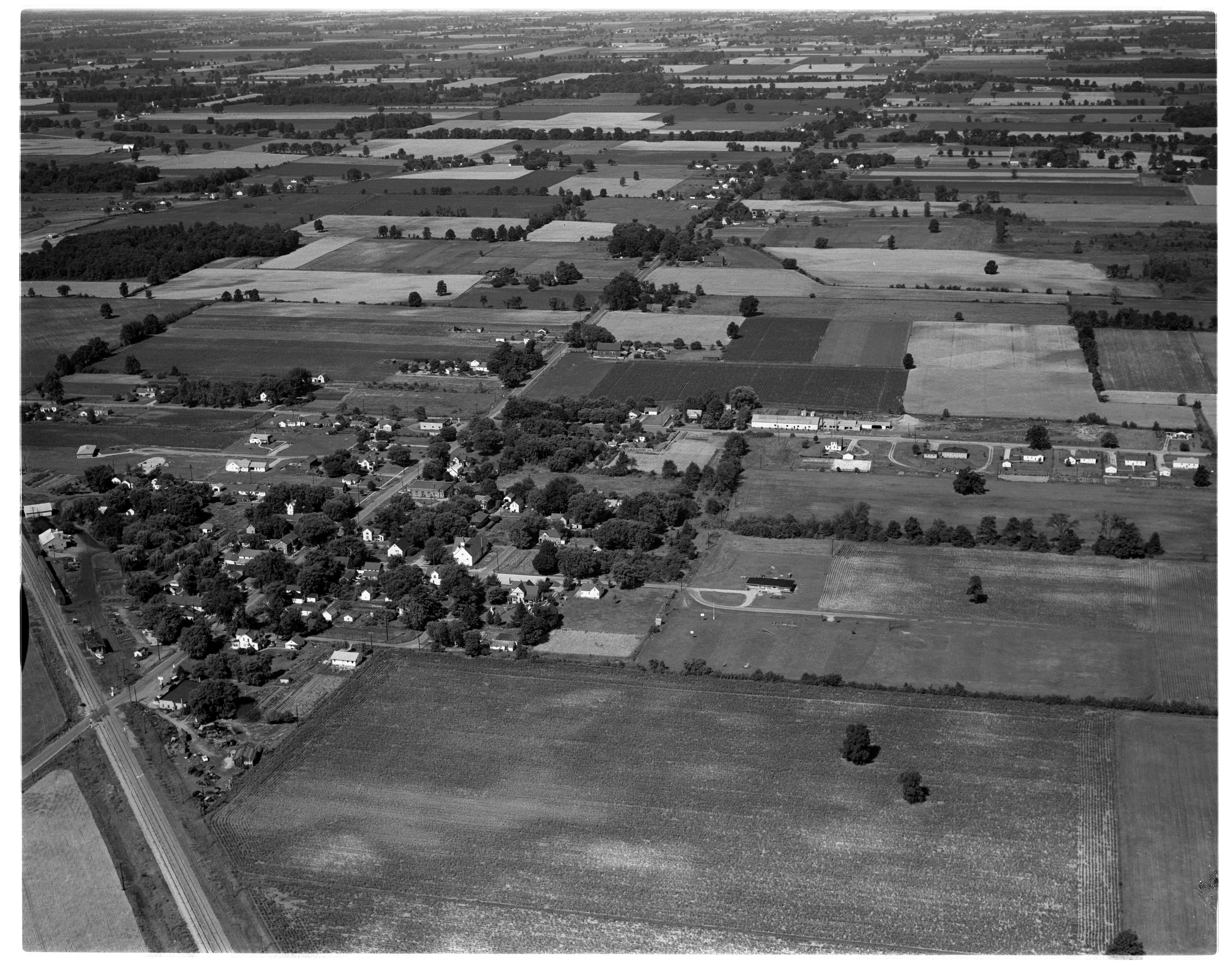 Aerial Photograph of Willis, August 1956 image